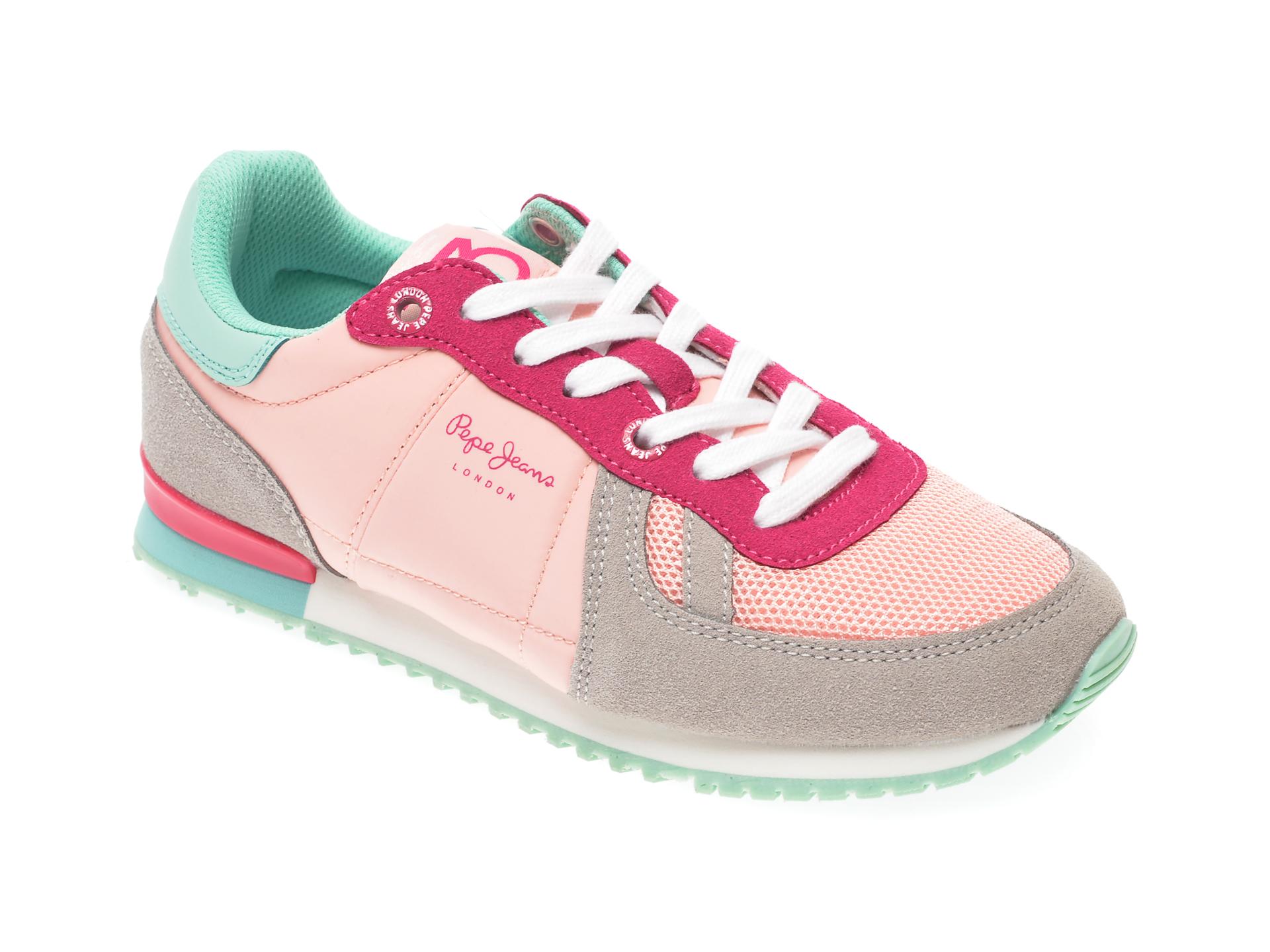 Pantofi sport PEPE JEANS multicolor, GS30432, din material textil si piele ecologica New