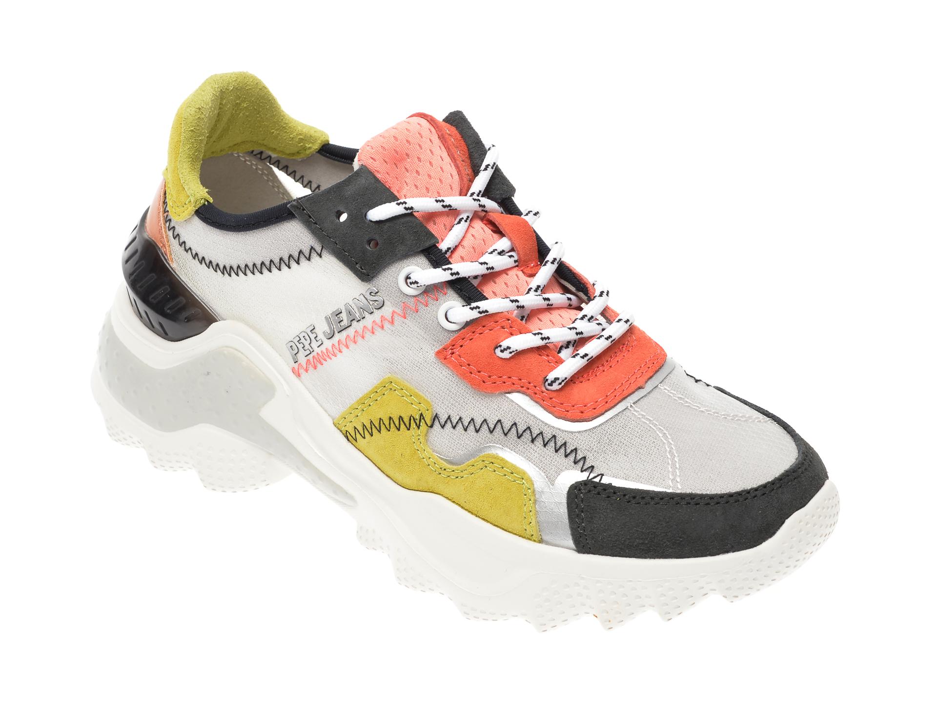 Pantofi sport PEPE JEANS multicolor, LS31003, din material textil si piele intoarsa