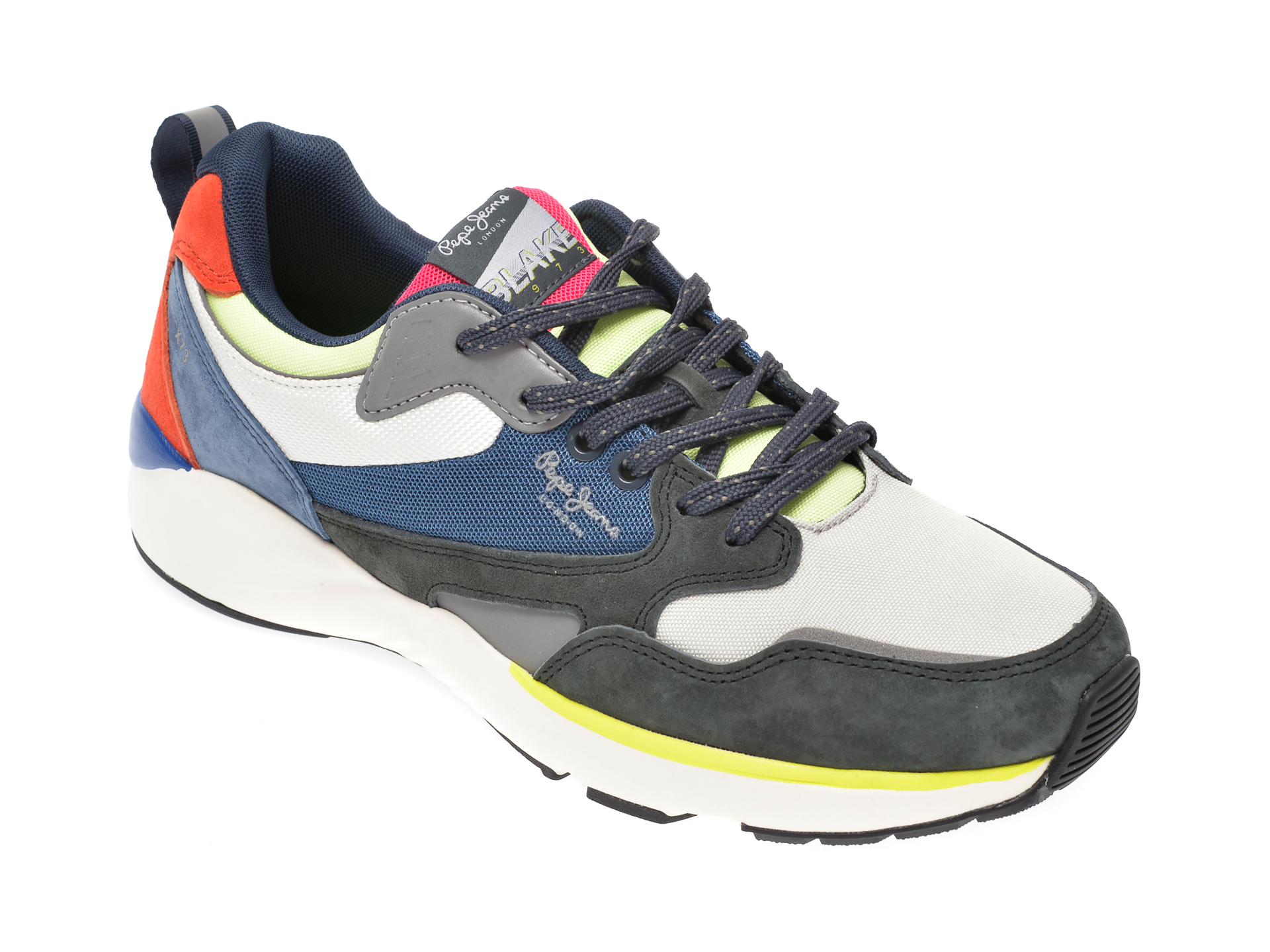 Pantofi sport PEPE JEANS multicolor, MS30596, din material textil si piele intoarsa imagine