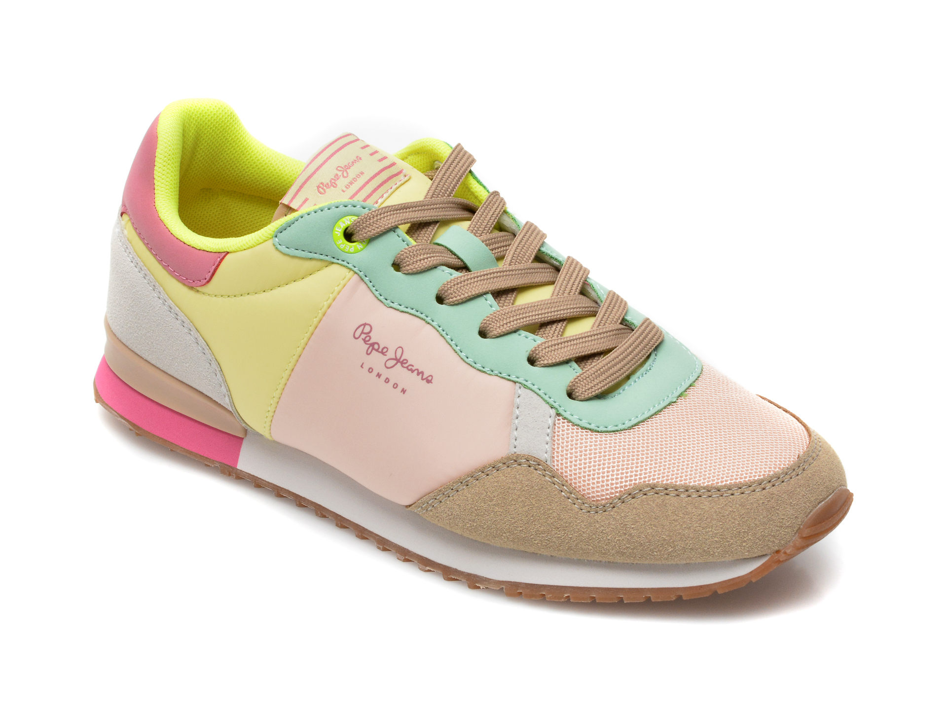 Pantofi sport PEPE JEANS multicolori, 3111099, din material textil si piele naturala imagine otter.ro