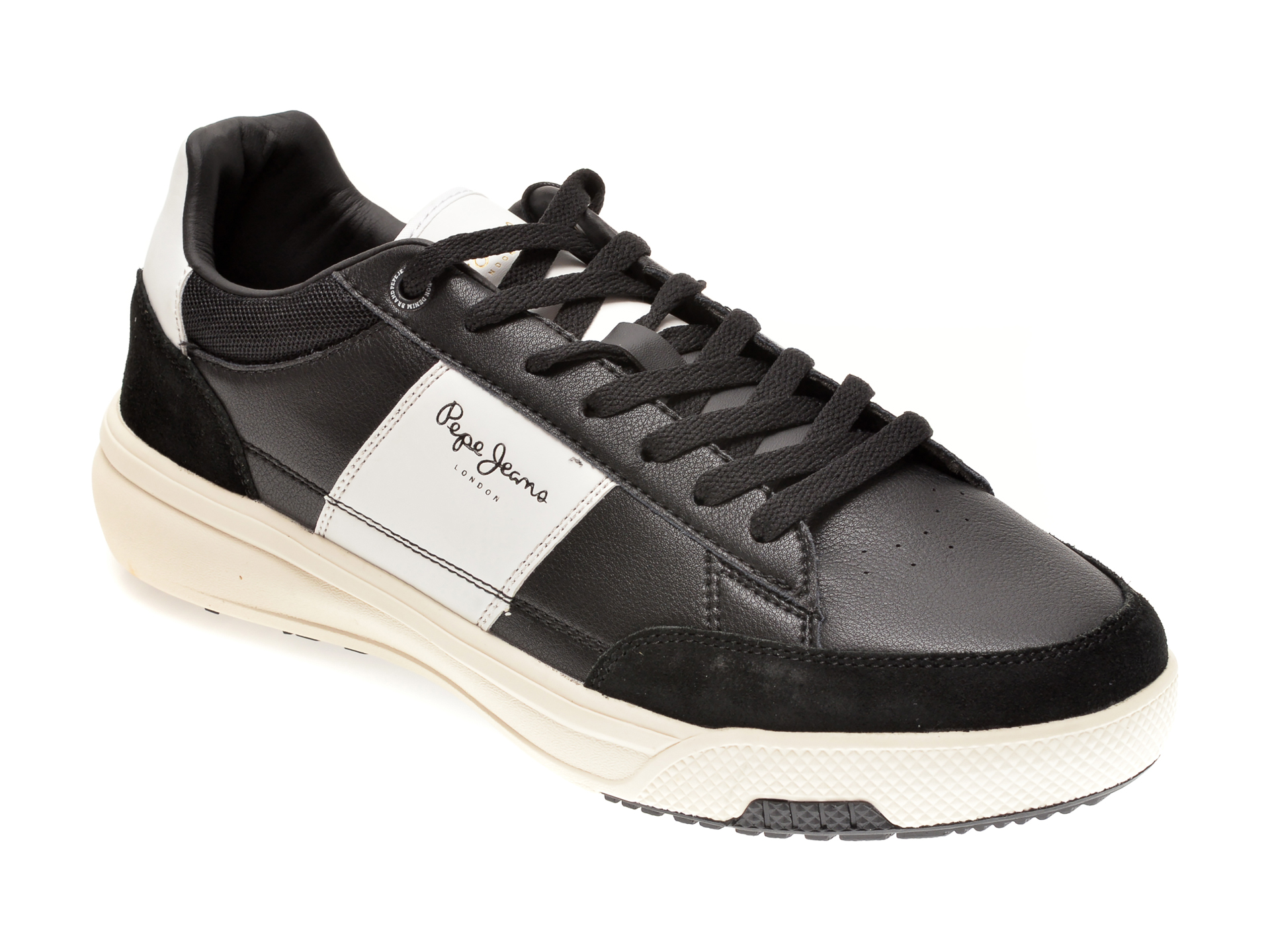 Pantofi sport PEPE JEANS negri, MS30677, din piele naturala imagine