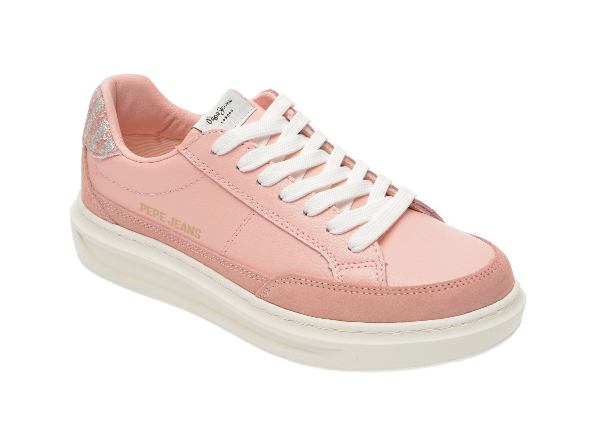 Pantofi sport PEPE JEANS roz, LS30964, din piele naturala imagine