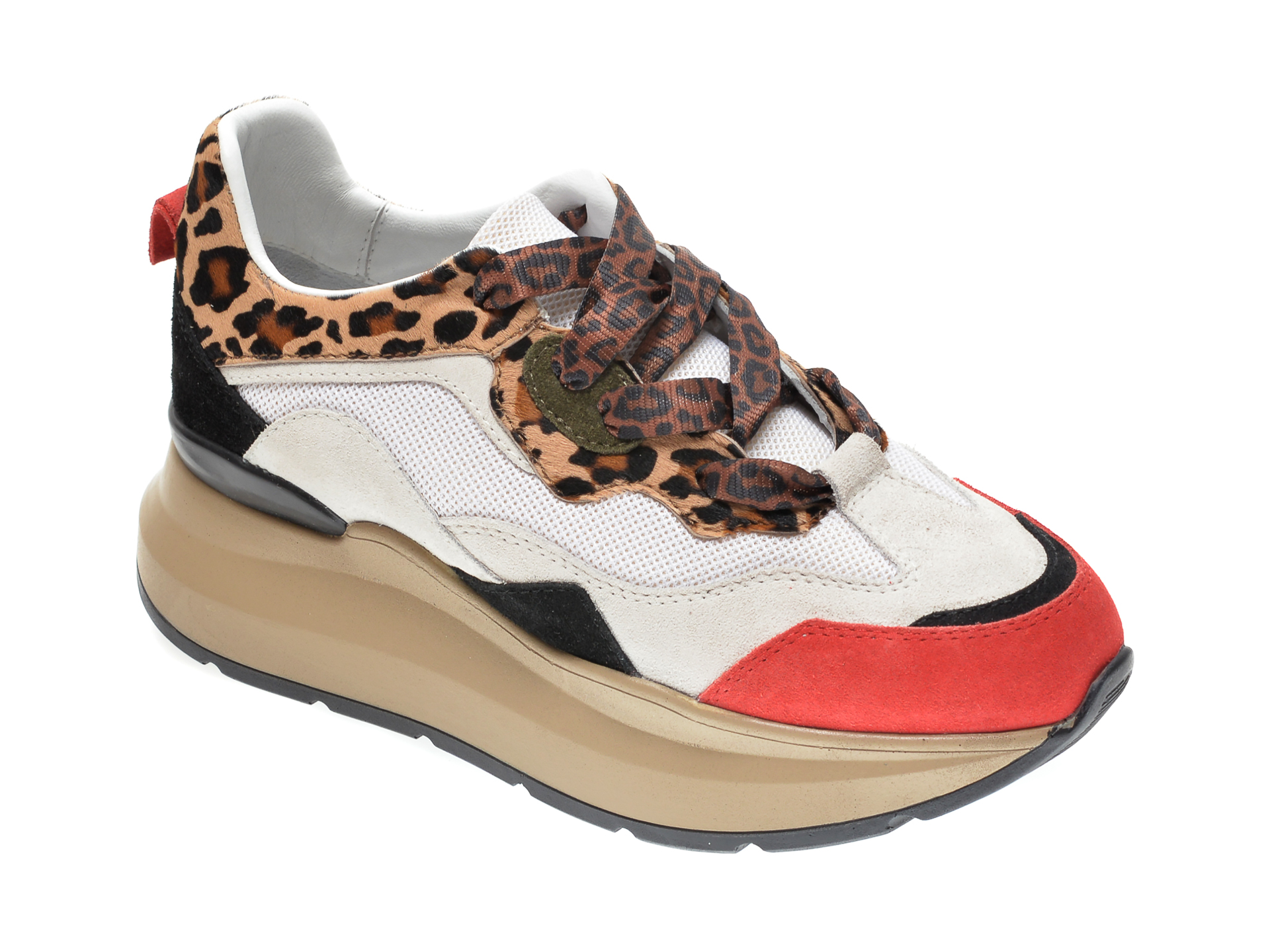 Pantofi sport RADIKAL albi, 2773, din piele naturala New