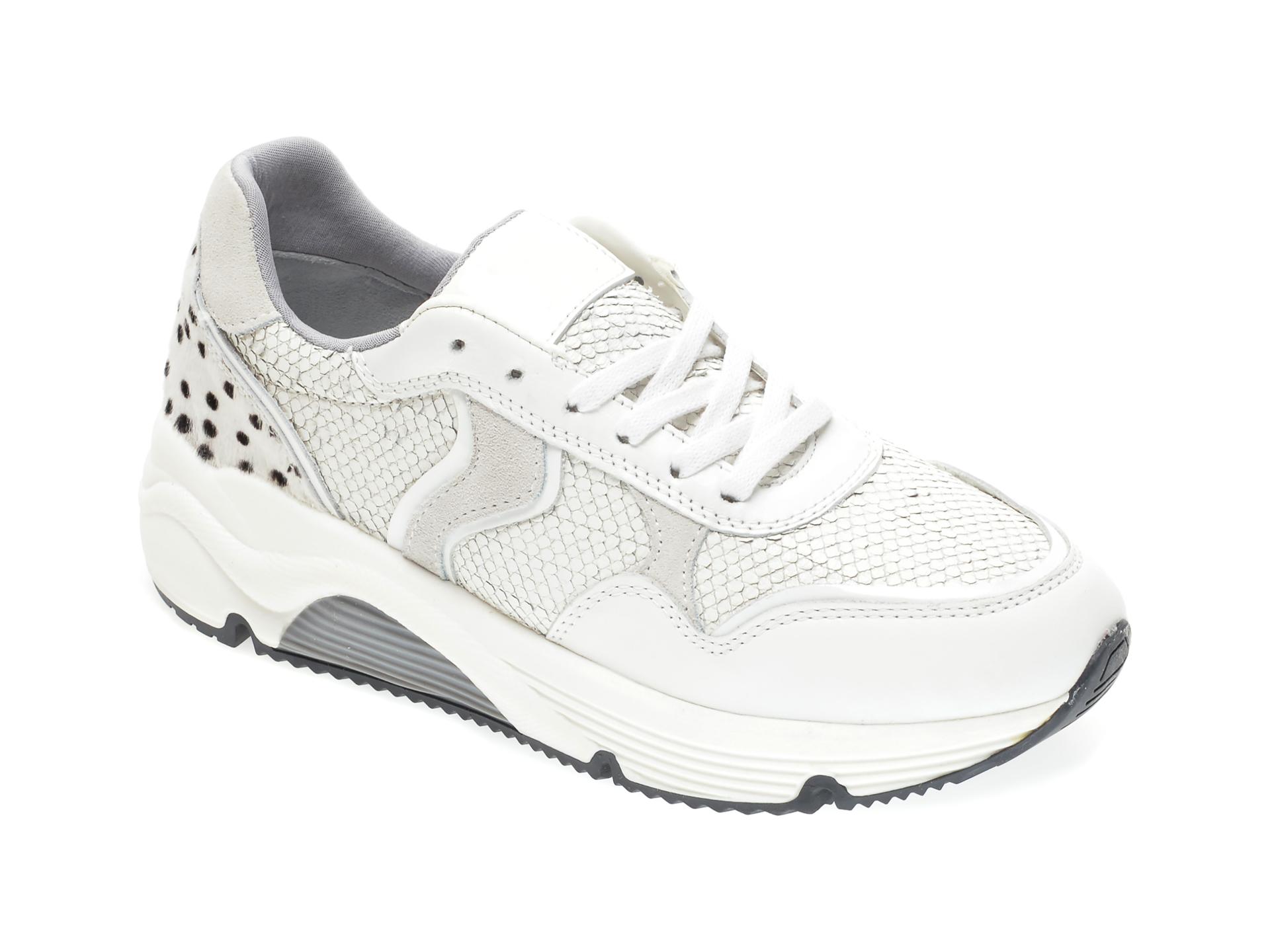 Pantofi sport RADIKAL albi, 2911, din piele naturala imagine