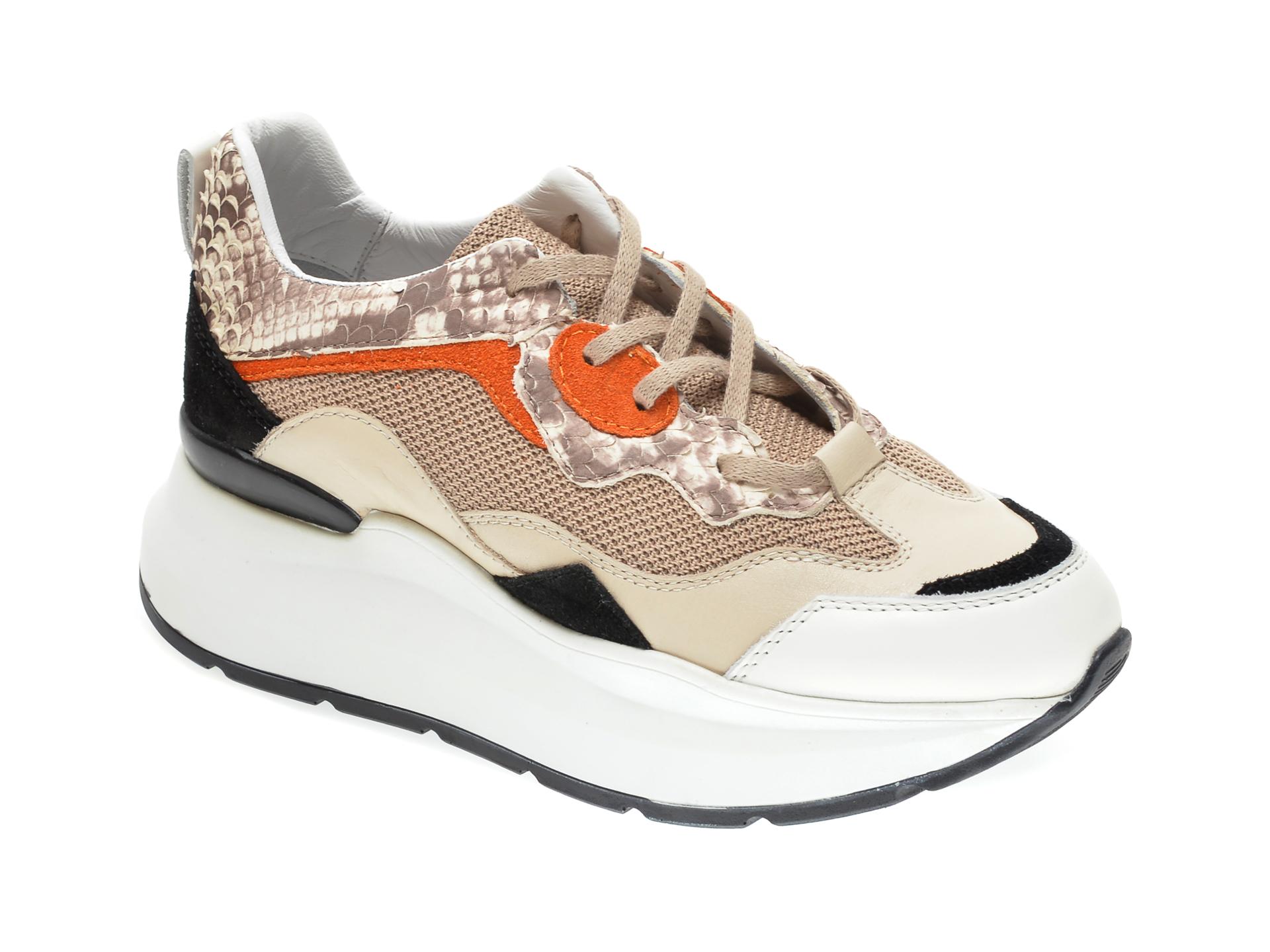 Pantofi sport RADIKAL bej, 2773, din piele naturala imagine