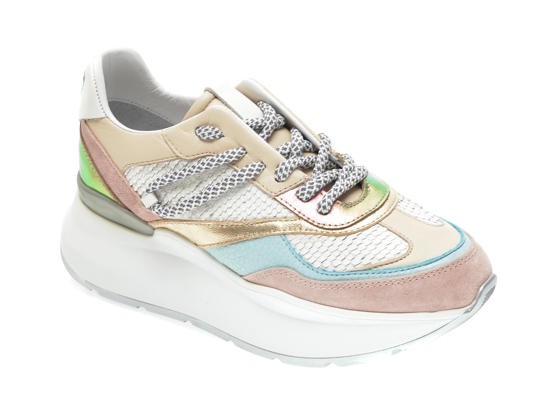Pantofi sport RADIKAL bej, 2794, din piele ecologica si material textil