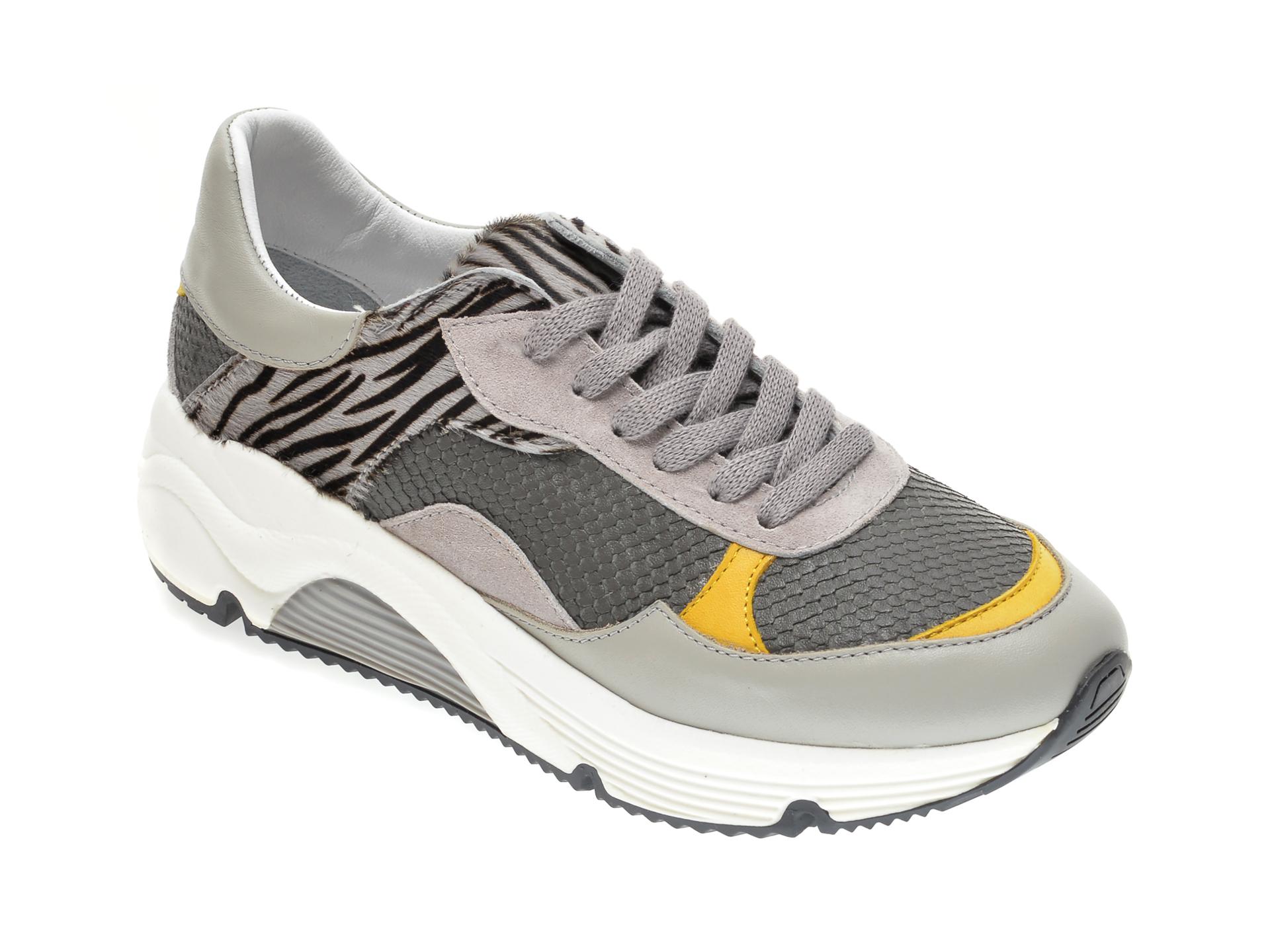 Pantofi sport RADIKAL gri, 2730, din piele naturala New