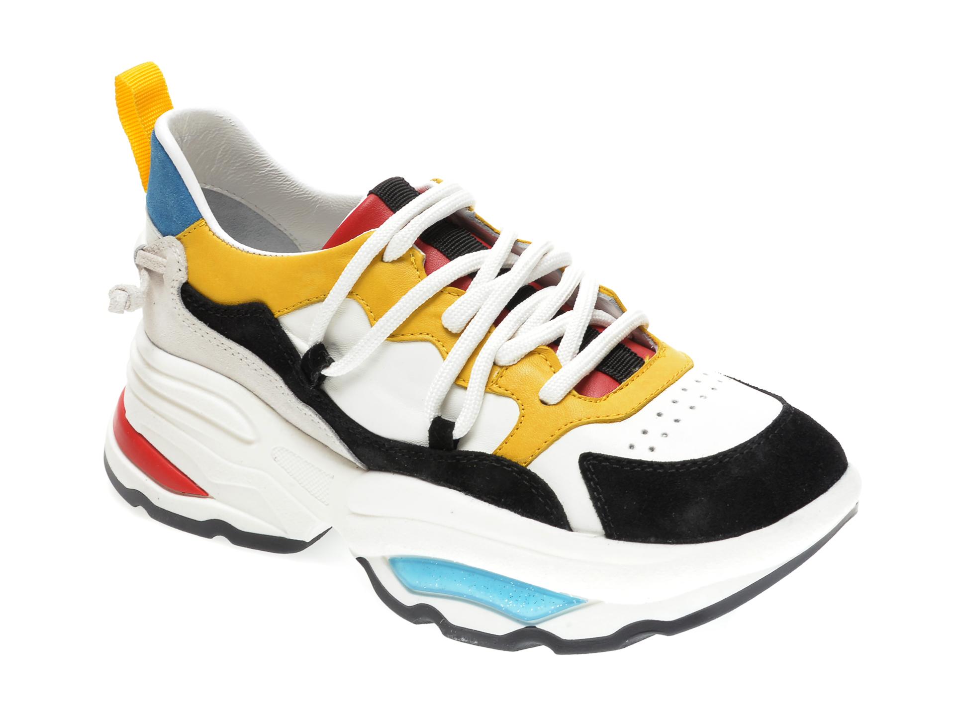 Pantofi sport RADIKAL multicolor, 2653, din piele naturala imagine otter.ro