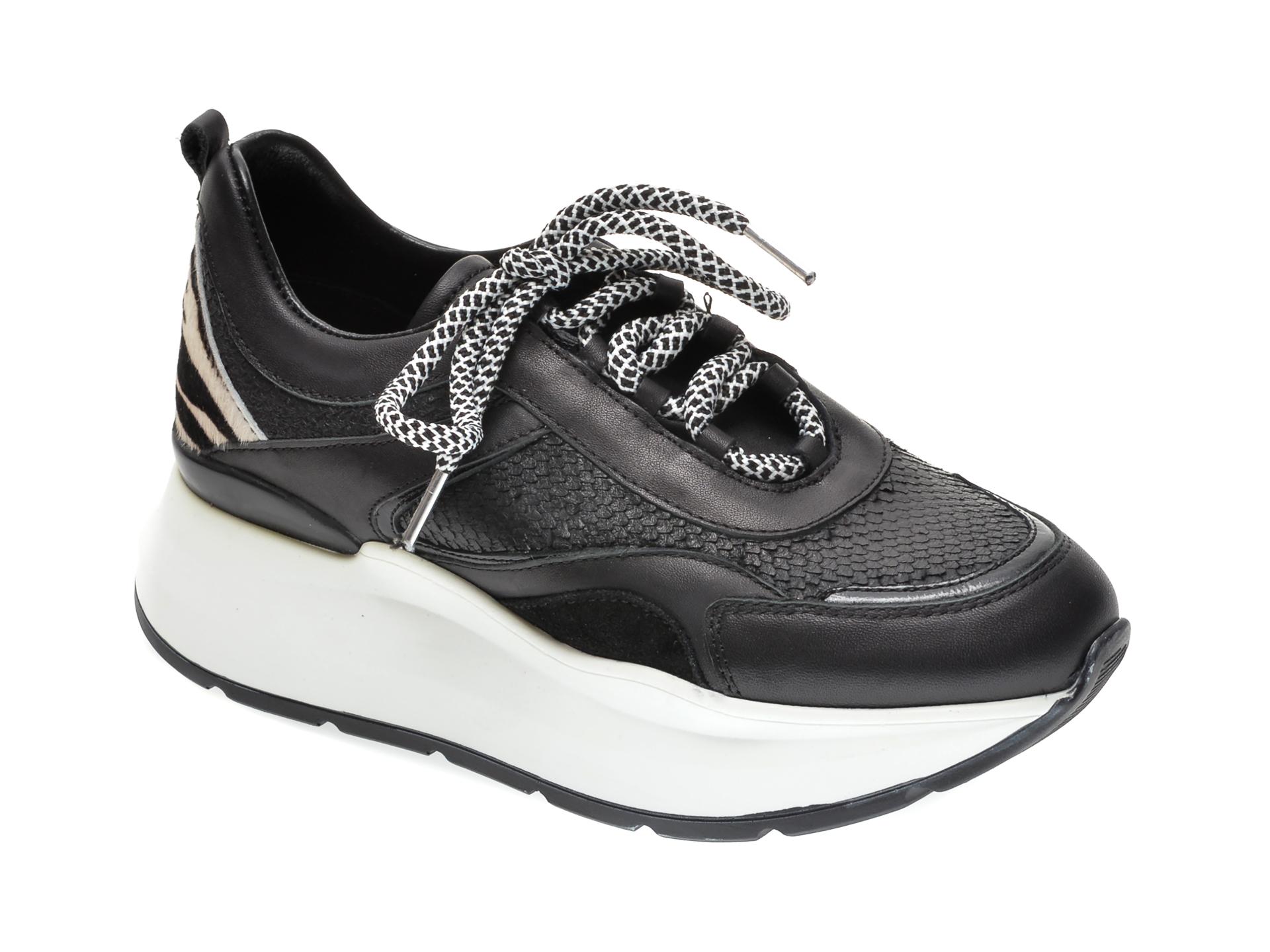 Pantofi sport RADIKAL negri, 2767, din piele naturala imagine