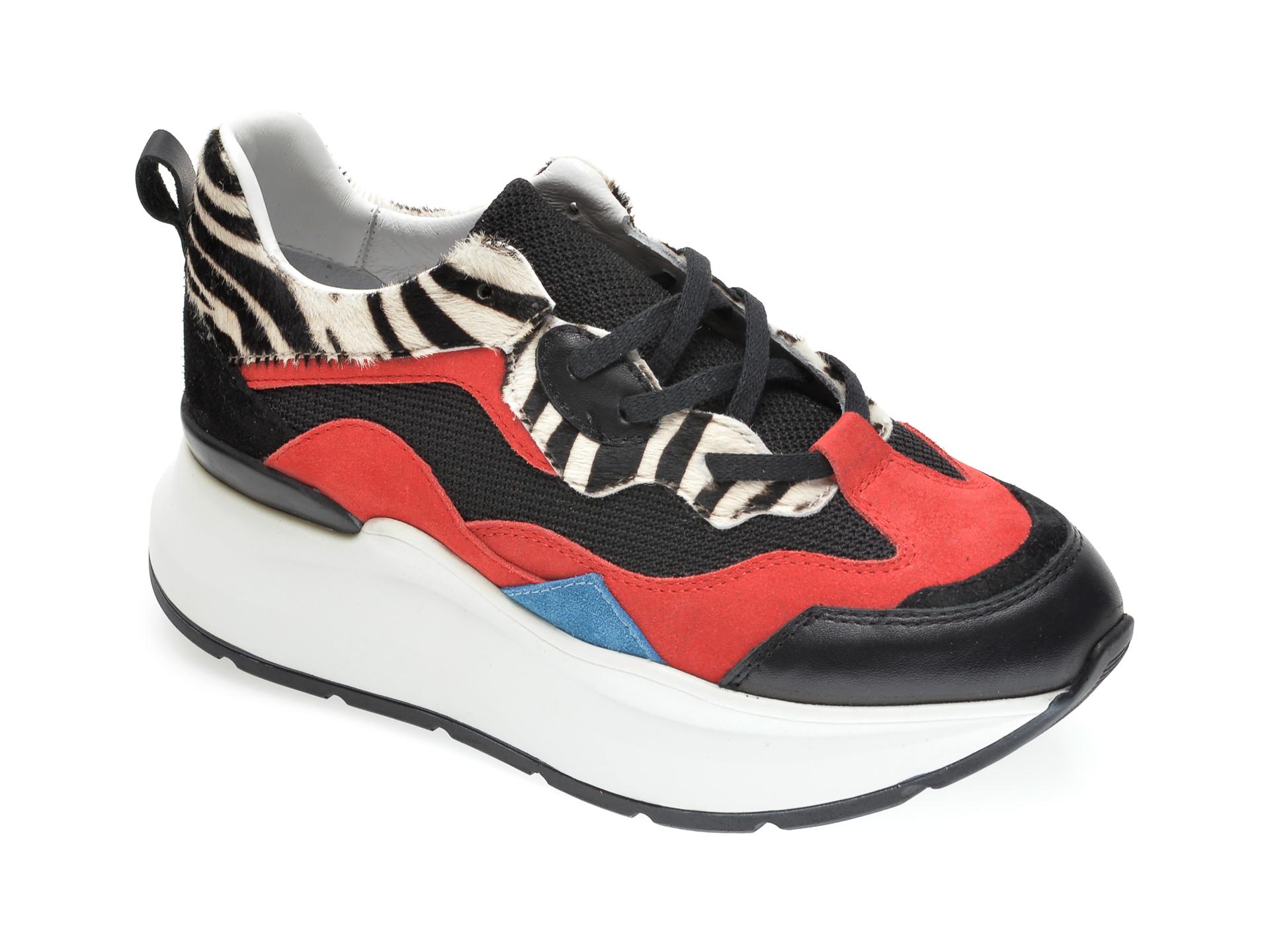 Pantofi sport RADIKAL negri, 2773, din piele naturala imagine