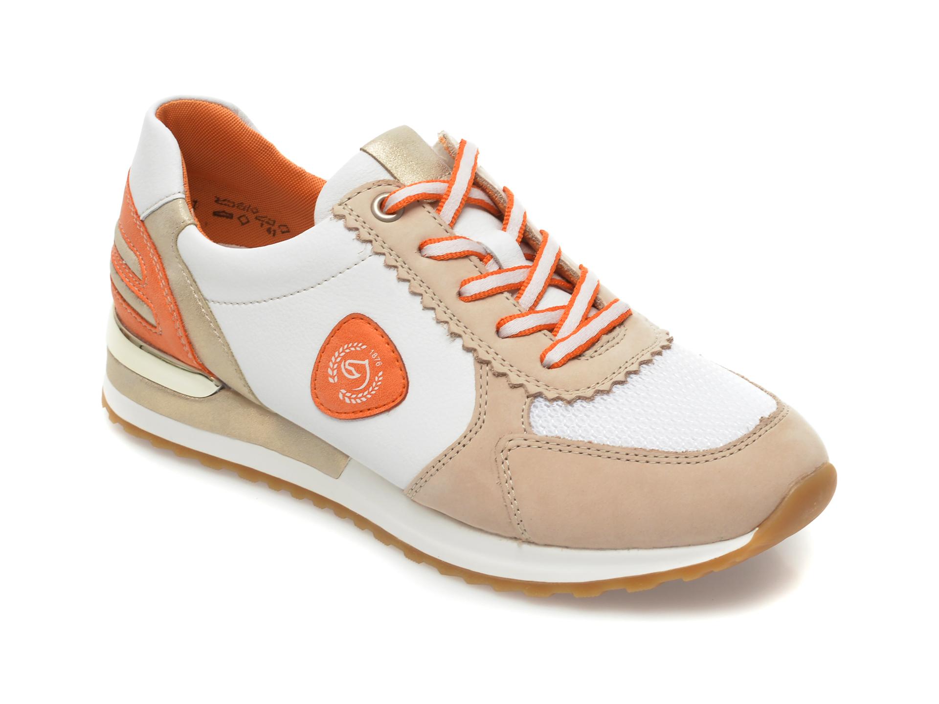 Pantofi sport REMONTE albi, R2527, din material textil si piele ecologica New