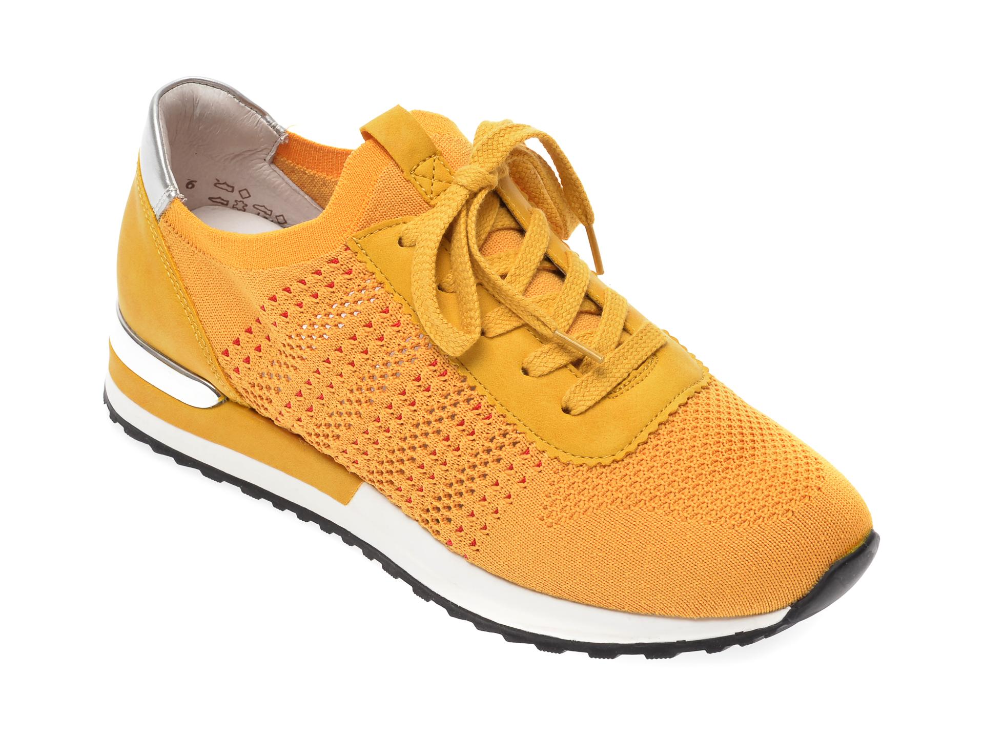 Pantofi sport REMONTE galbeni, R2507, din material textil imagine