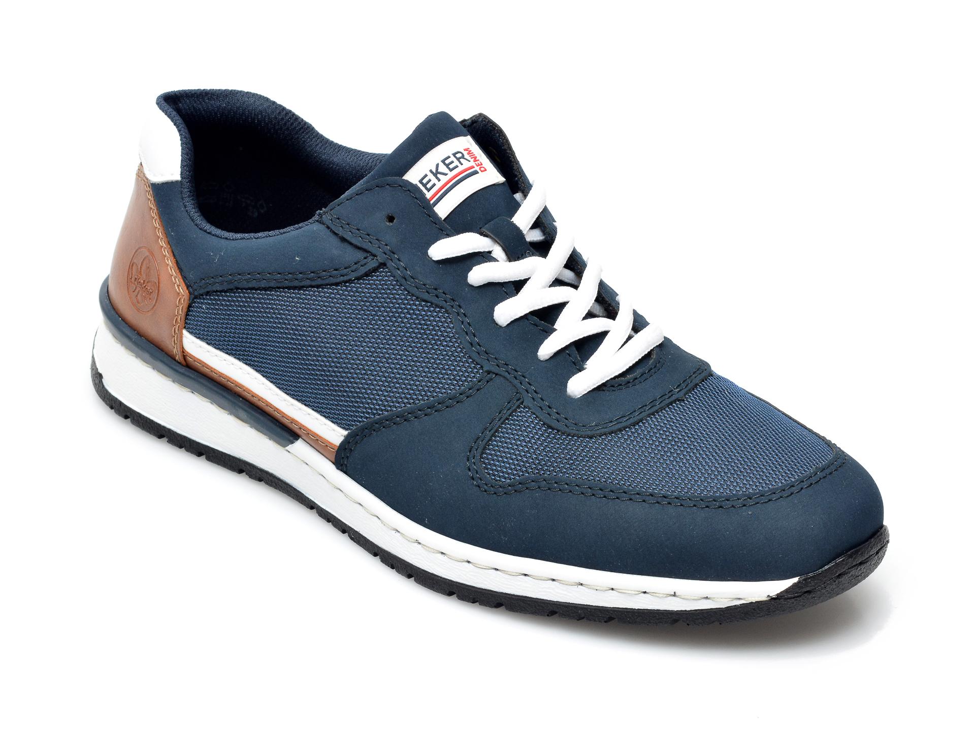Pantofi sport RIEKER bleumarin, B5129, din material textil si piele ecologica imagine