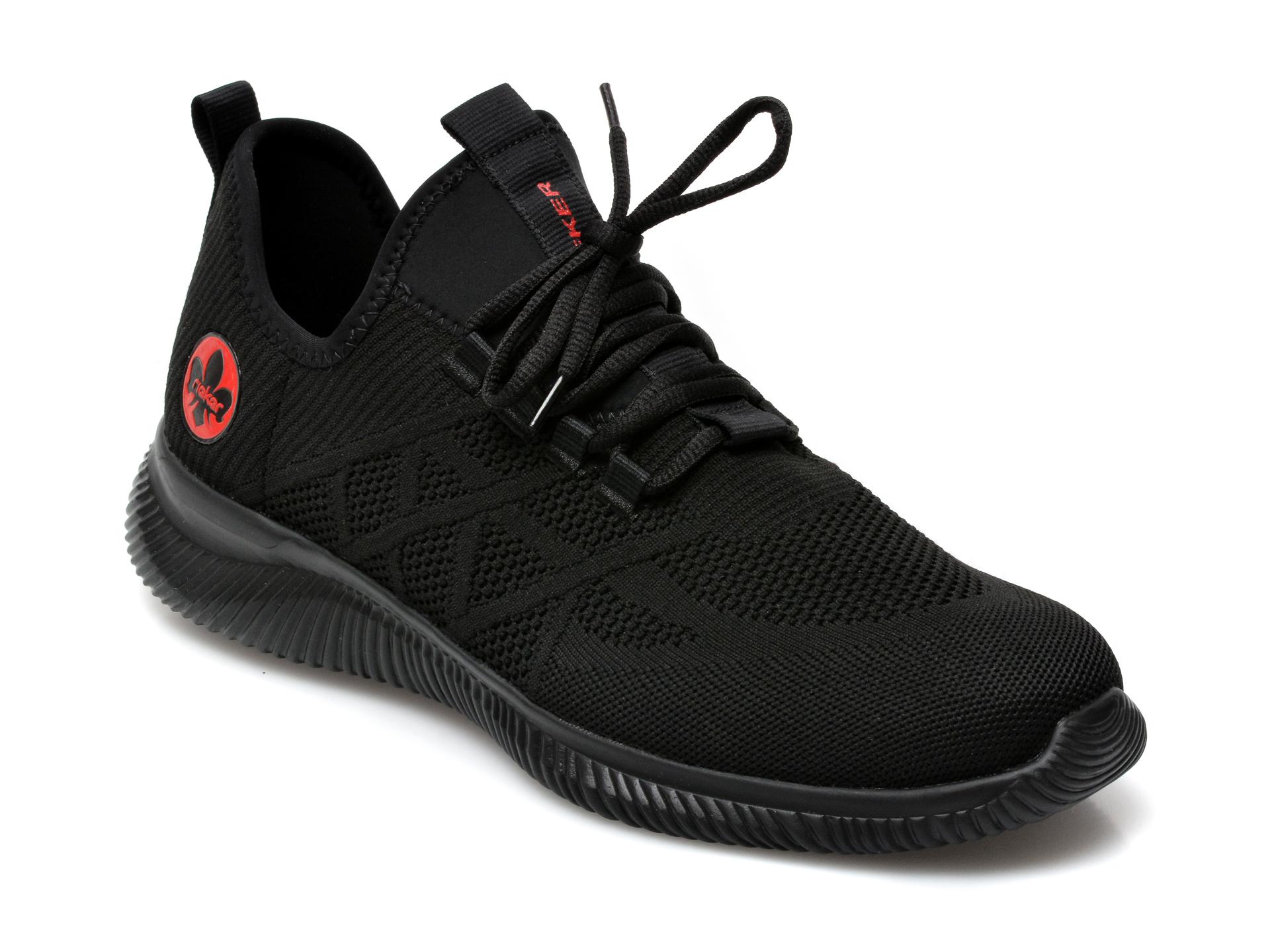 Pantofi sport RIEKER negri, B7476, din material textil imagine otter.ro 2021