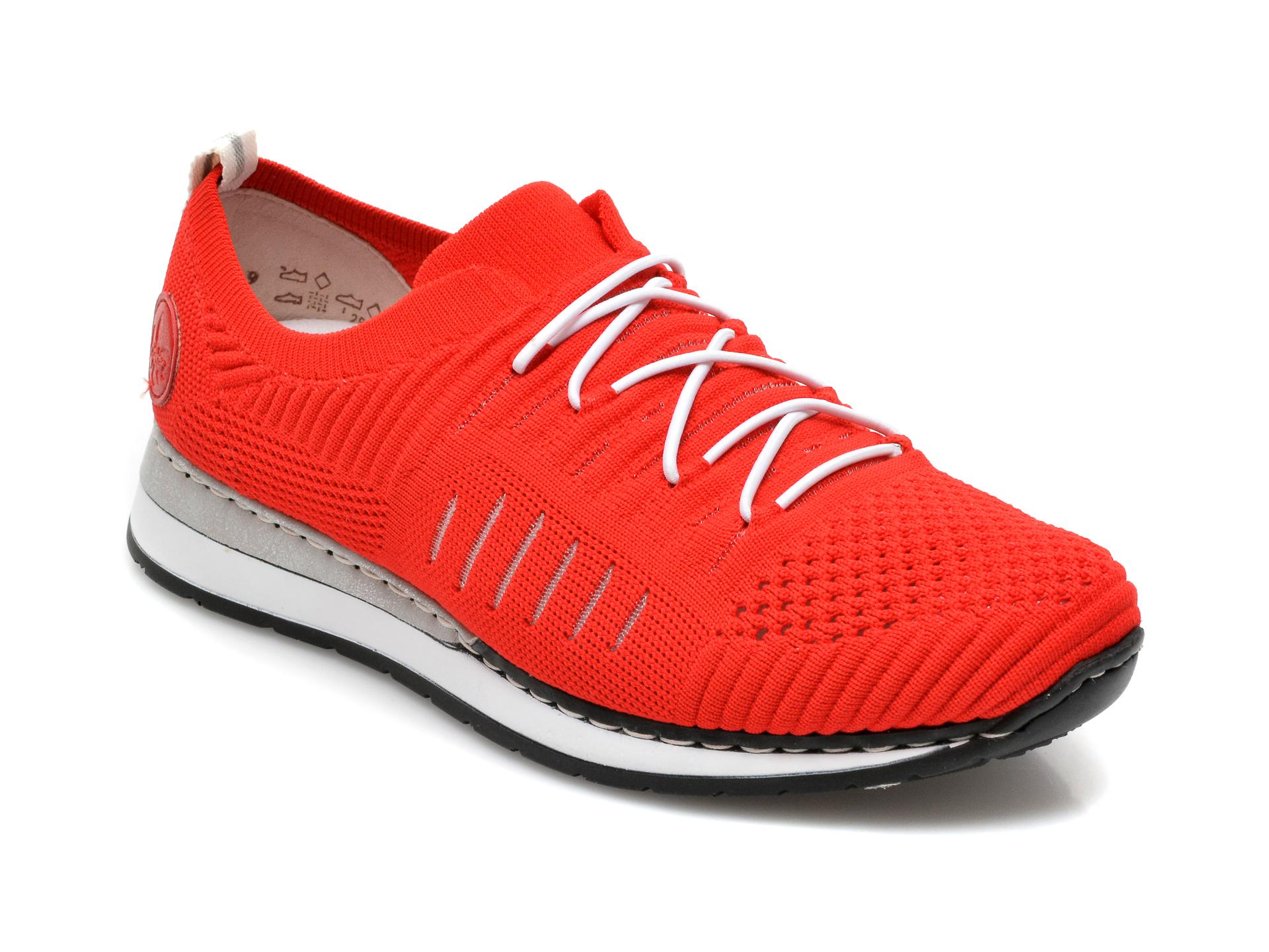 Pantofi sport RIEKER rosii, N3075, din material textil imagine otter.ro 2021
