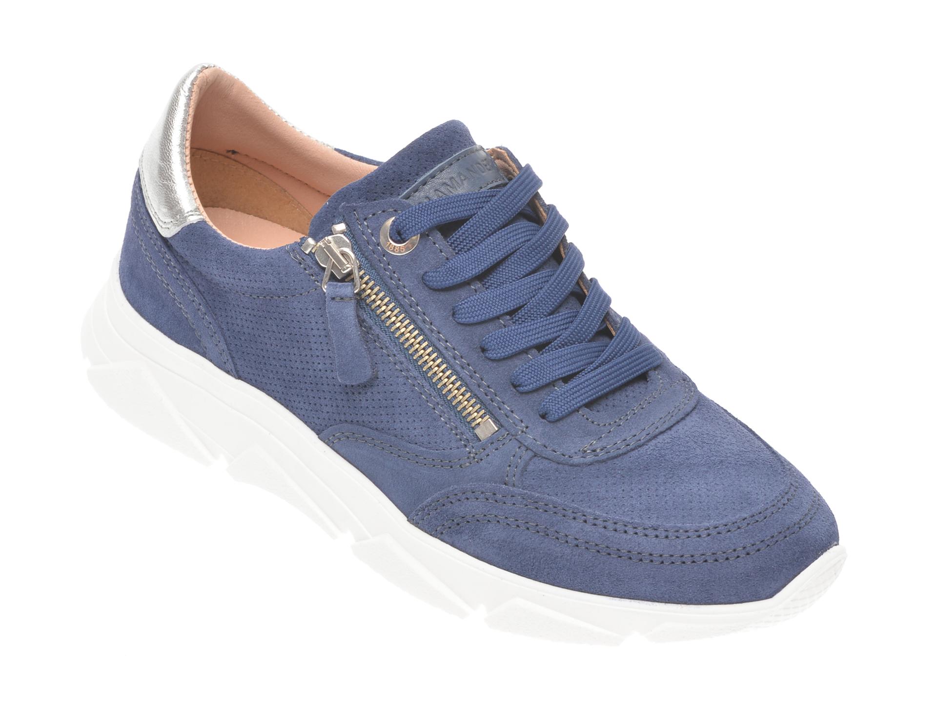 Pantofi sport SALAMANDER bleumarin 55402, din piele intoarsa