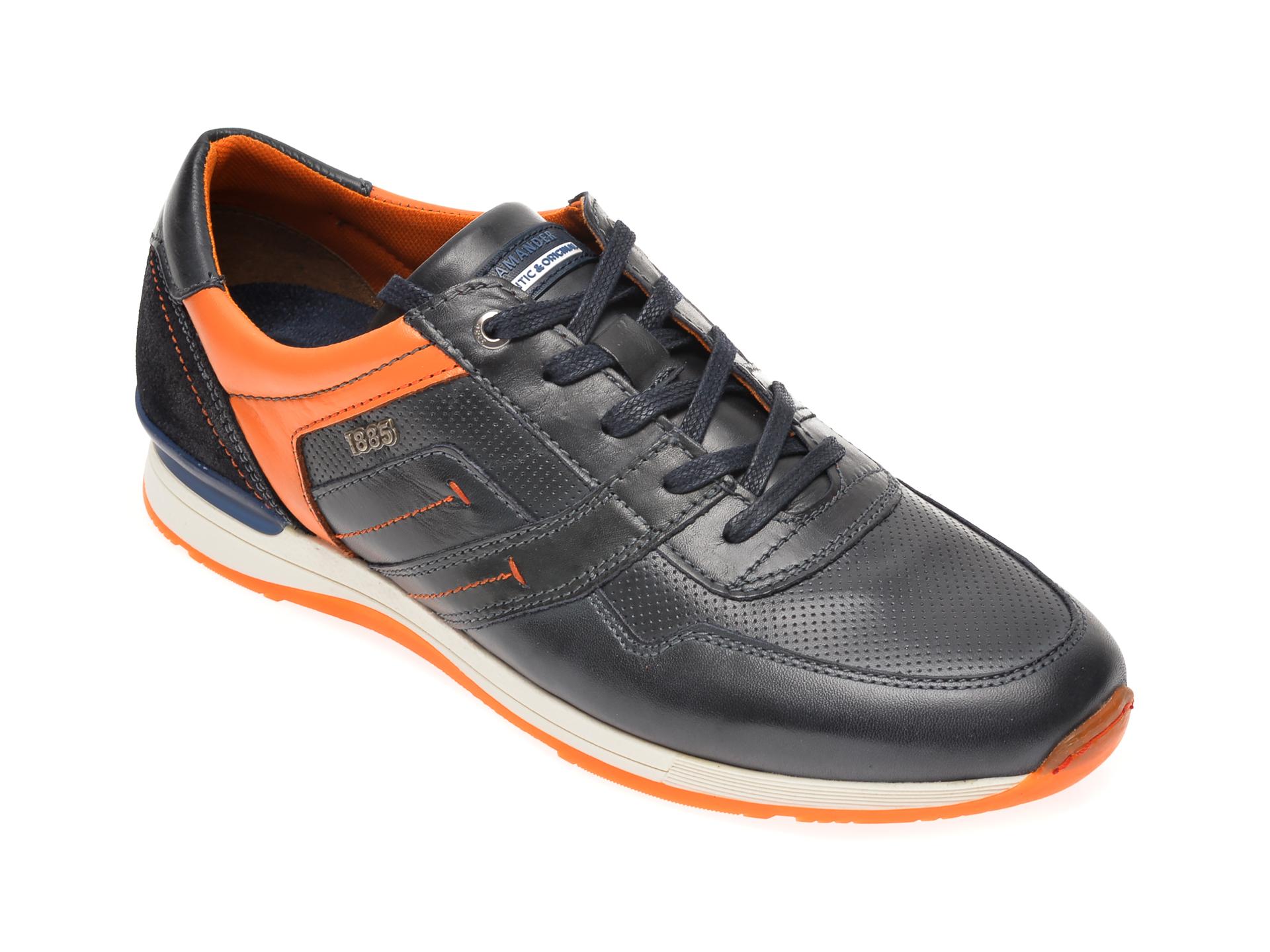 Pantofi sport SALAMANDER bleumarin, 56201, din piele naturala imagine