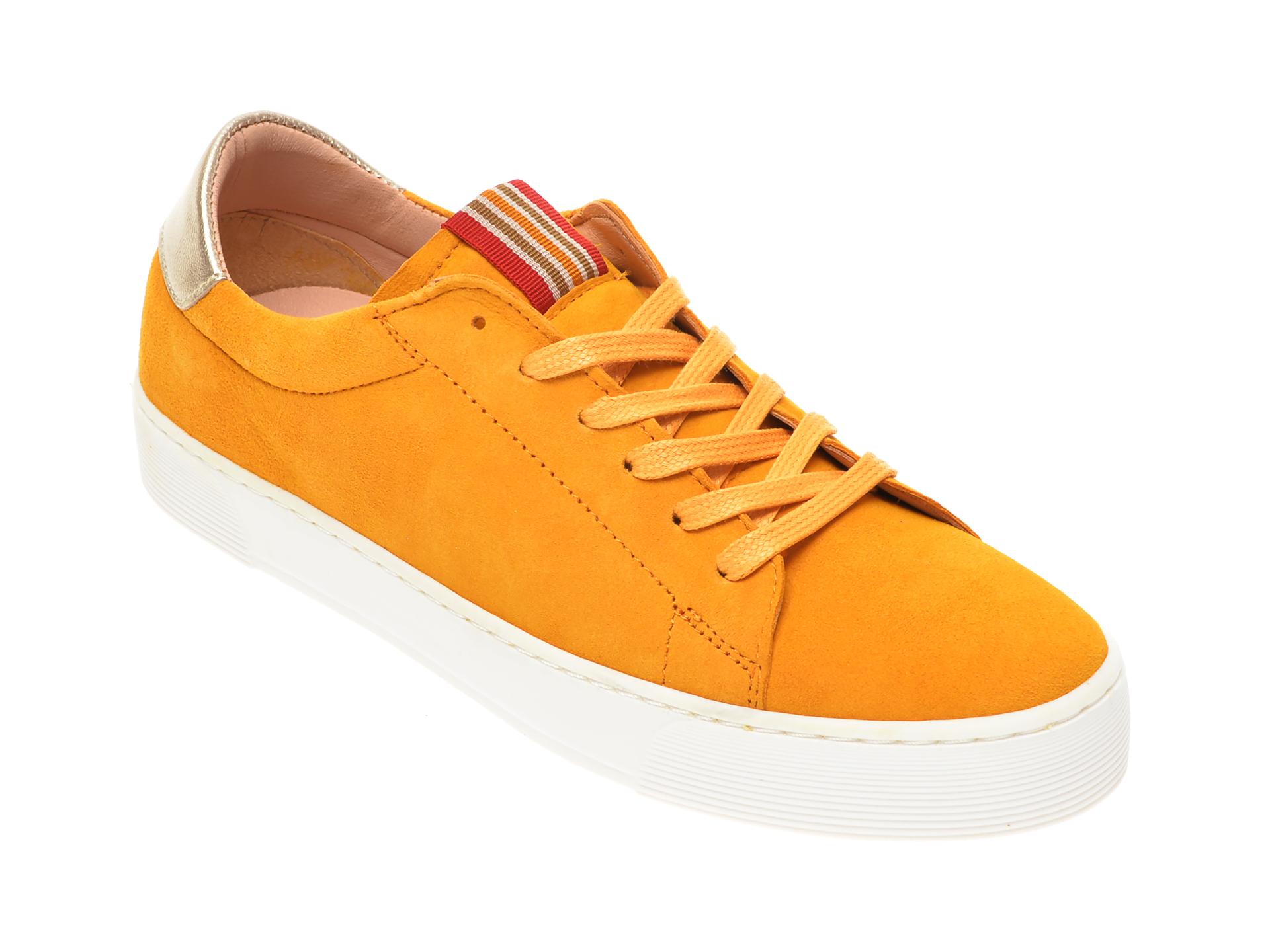 Pantofi sport SALAMANDER galbeni, 55301, din piele intoarsa