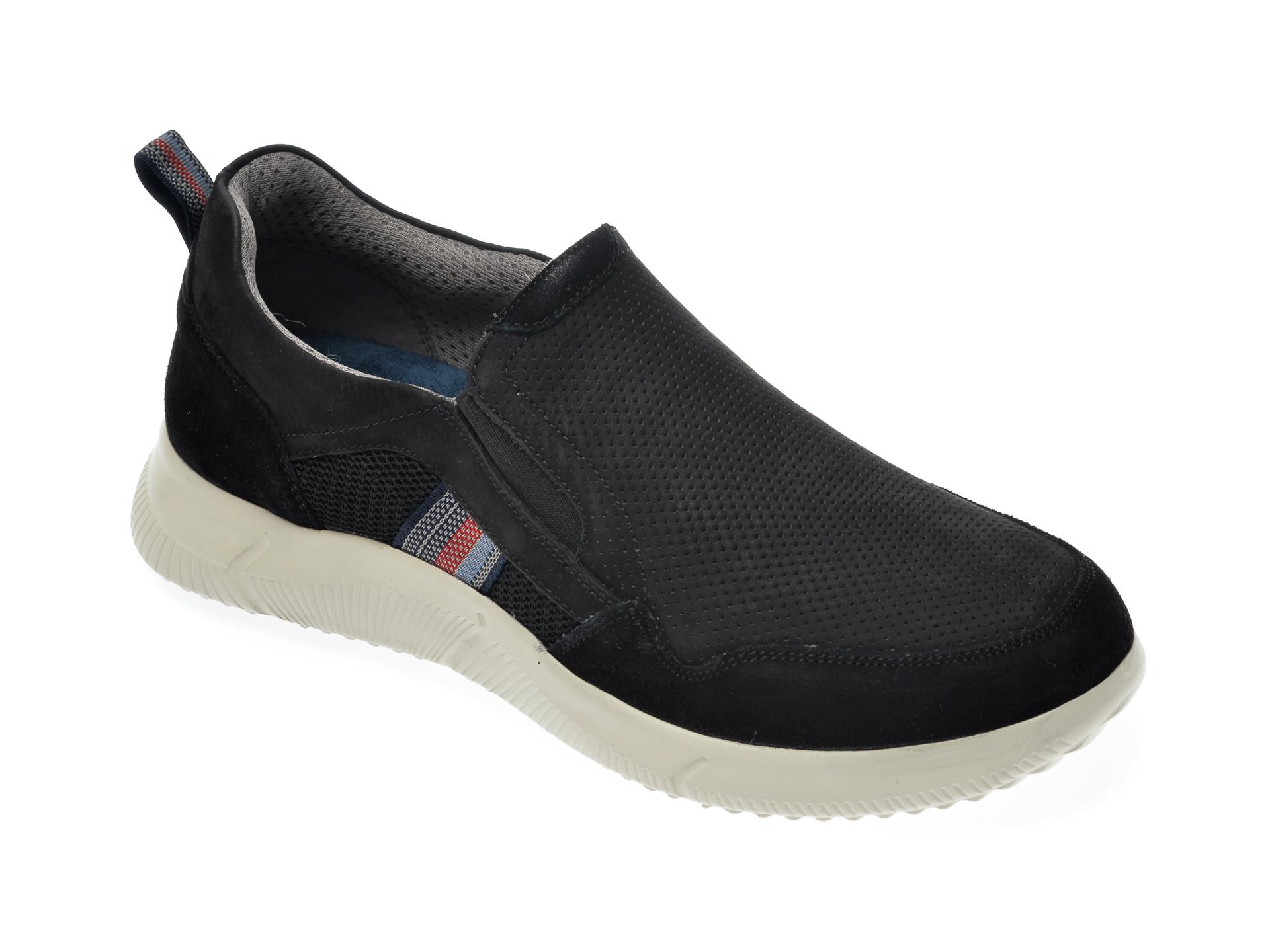 Pantofi sport SALAMANDER negri, 61004, din nabuc imagine