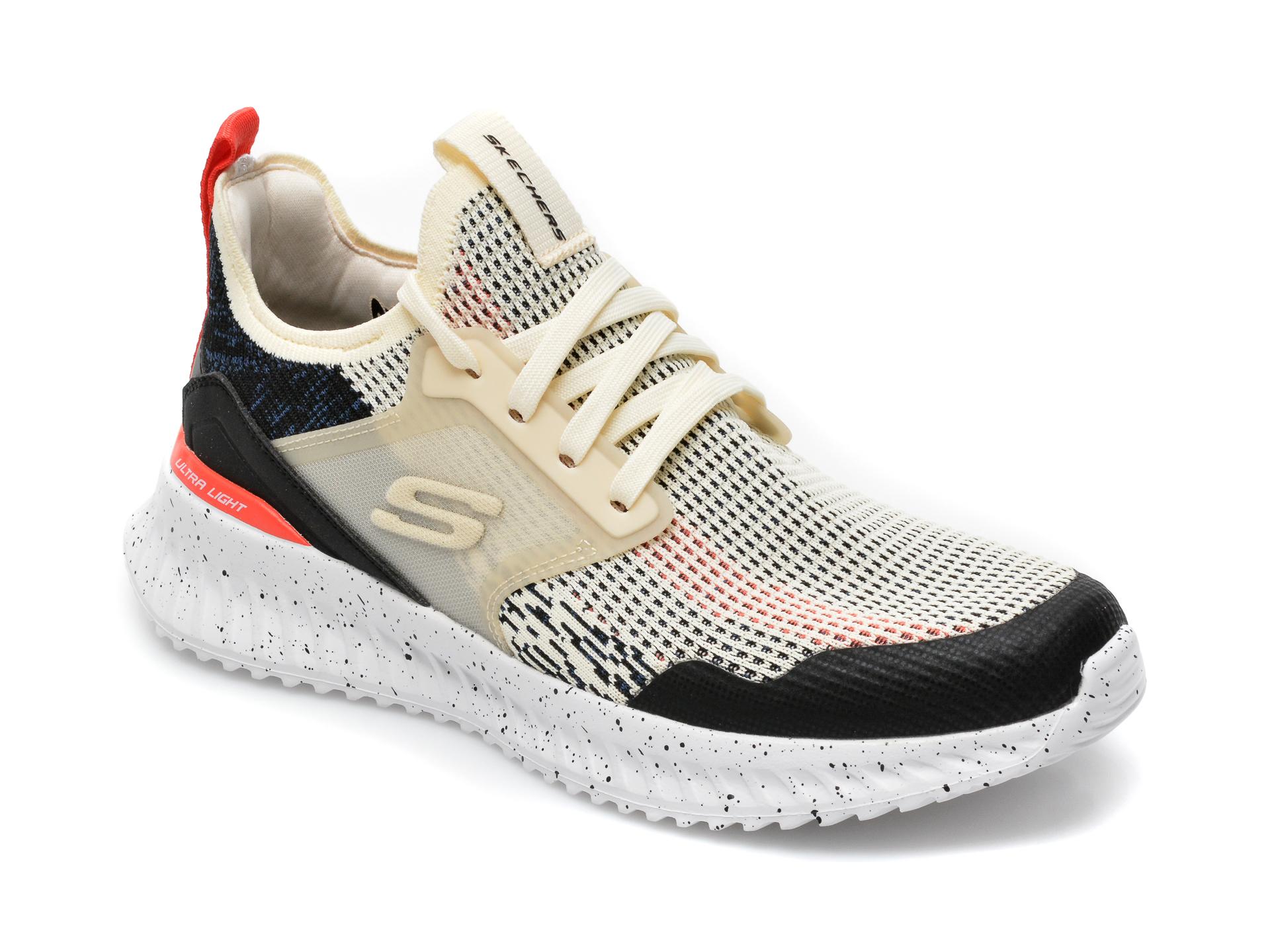 Pantofi sport SKECHERS alb-negru, Matera 2.0 Celdra, din material textil imagine