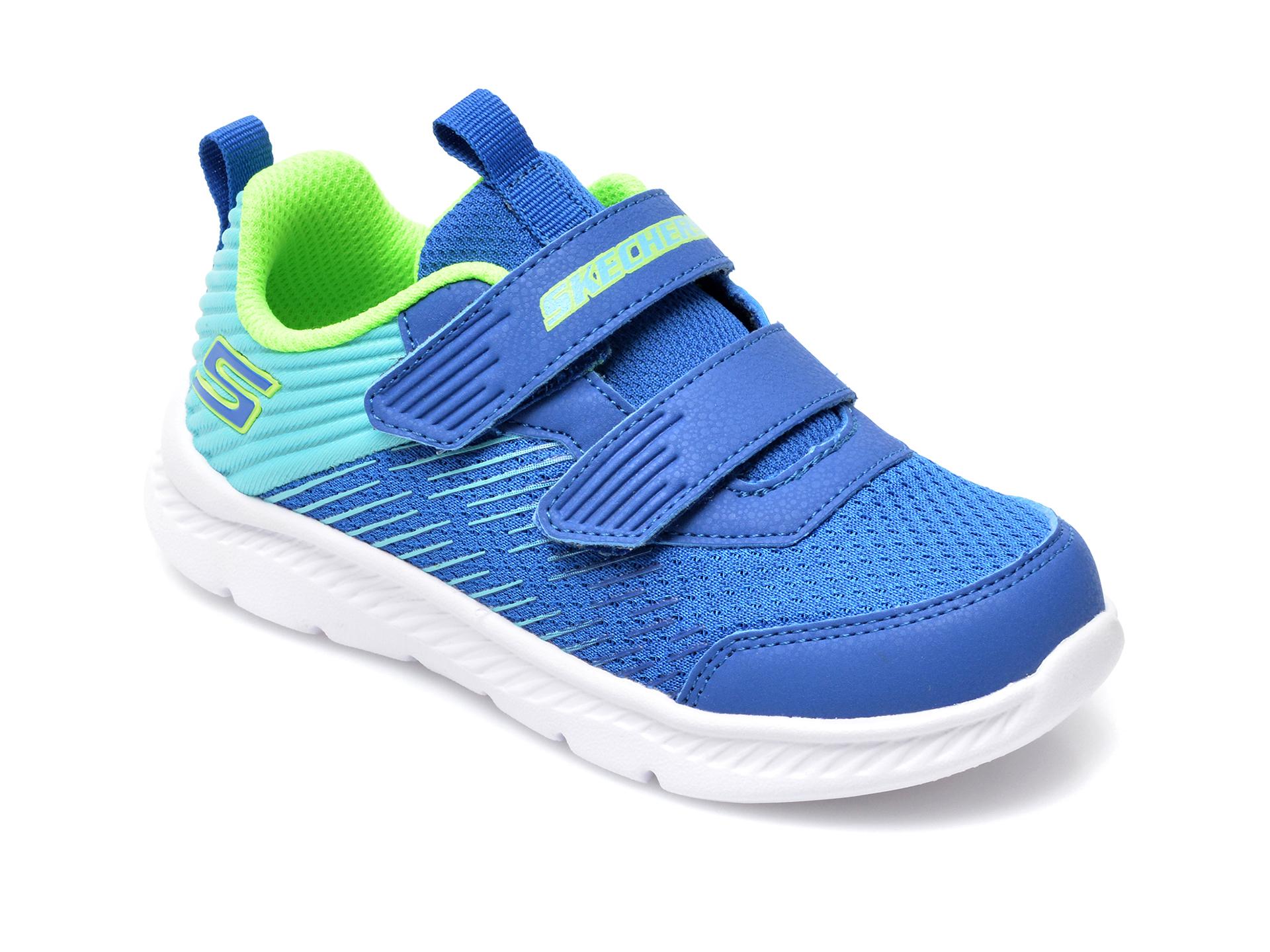 Pantofi sport SKECHERS albastri, Comfy Flex 2.0 Micro-Rush, din material textil