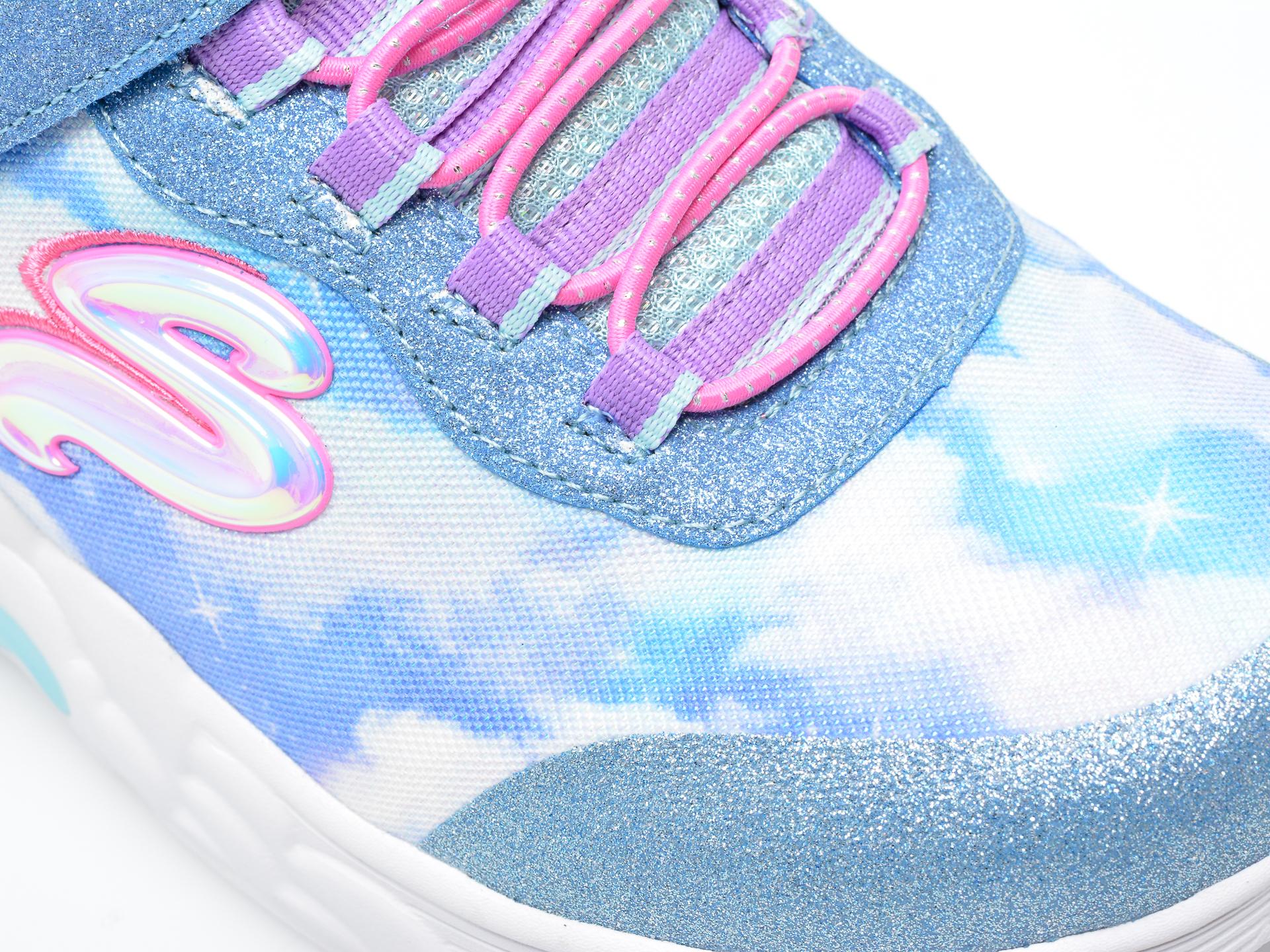 Pantofi sport SKECHERS albastri, RAINBOW RACER, din material textil - 2