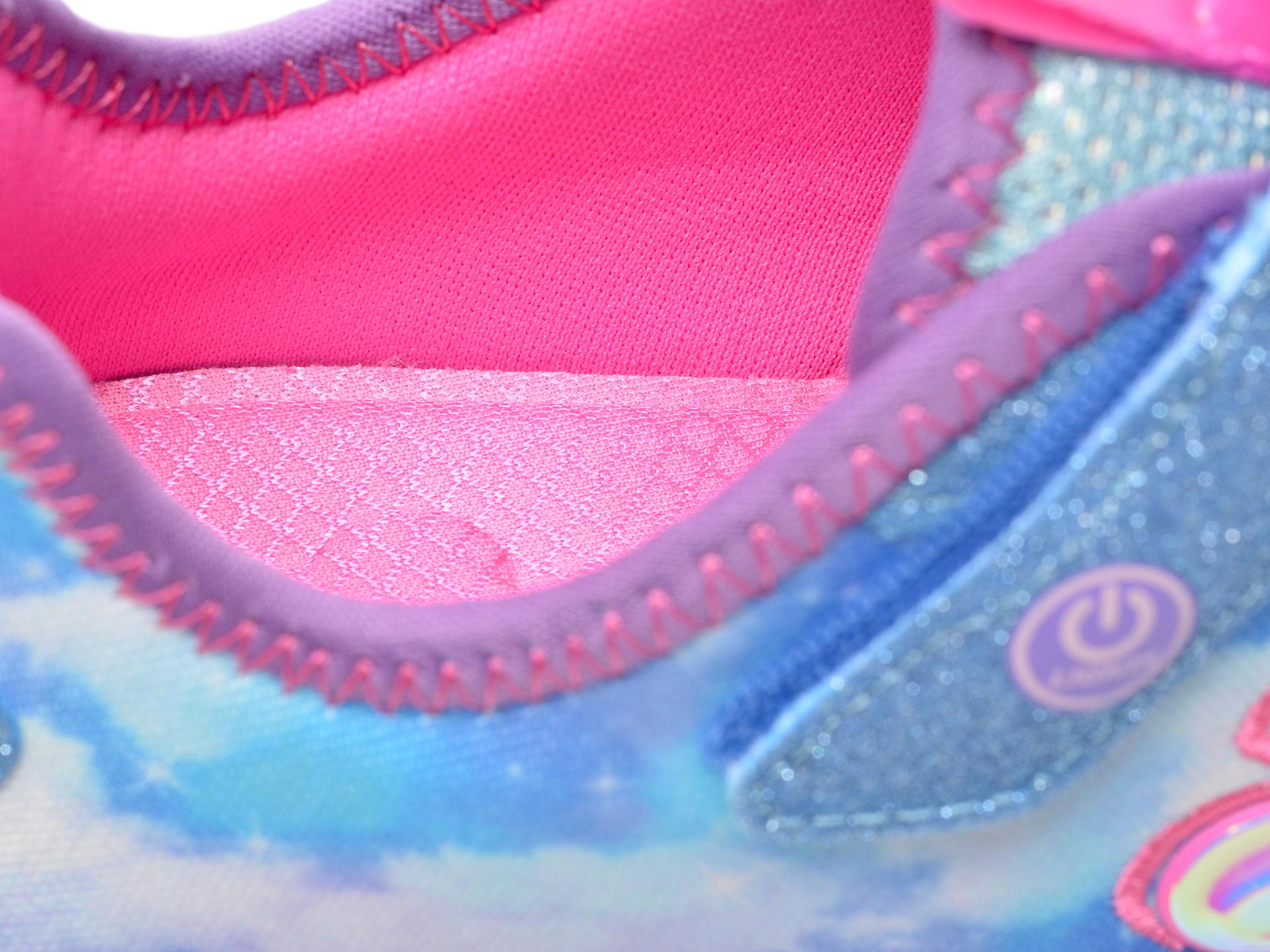 Pantofi sport SKECHERS albastri, RAINBOW RACER, din material textil - 3