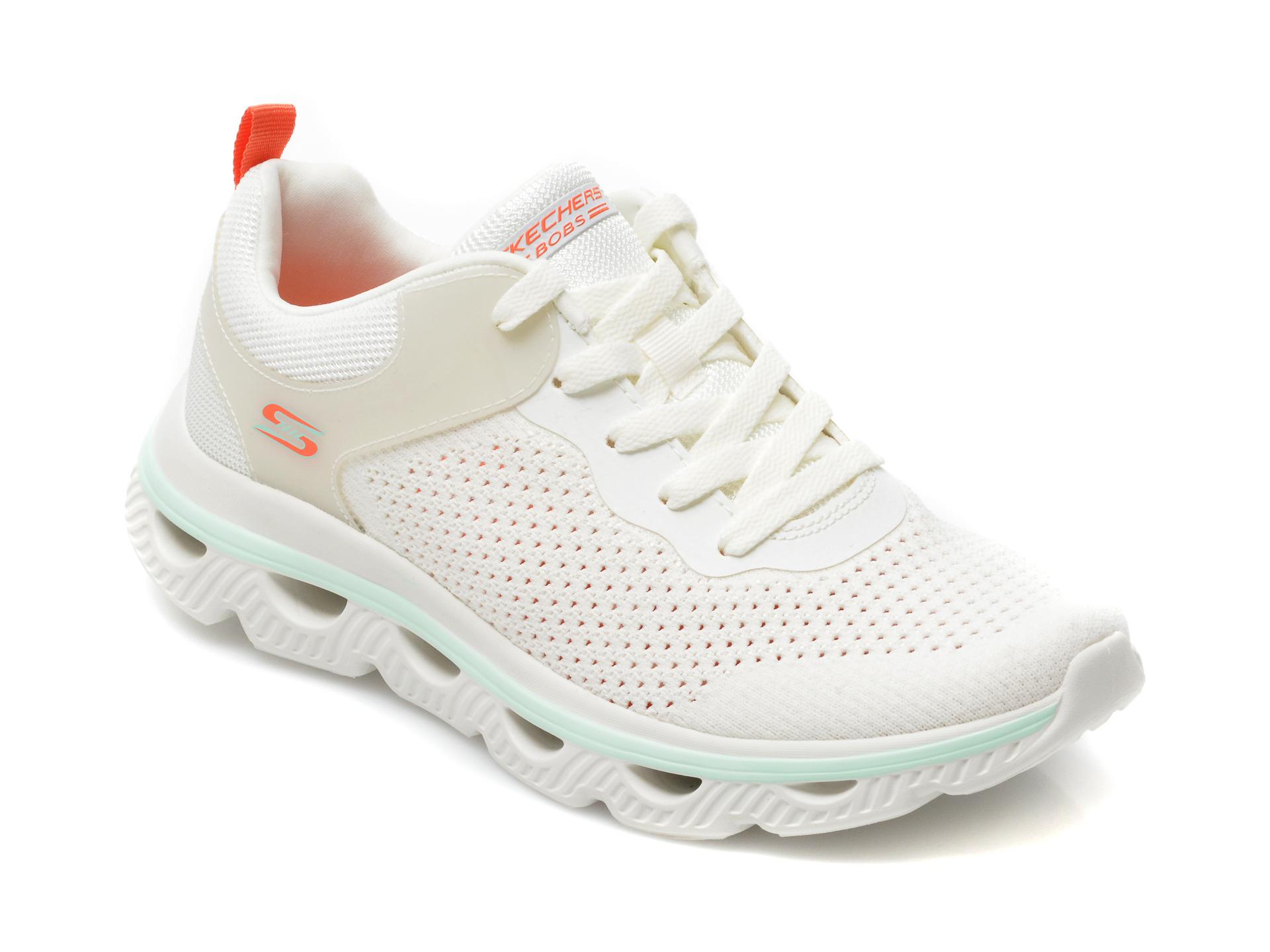 Pantofi sport SKECHERS albi, Arc Waves, din material textil imagine otter.ro 2021