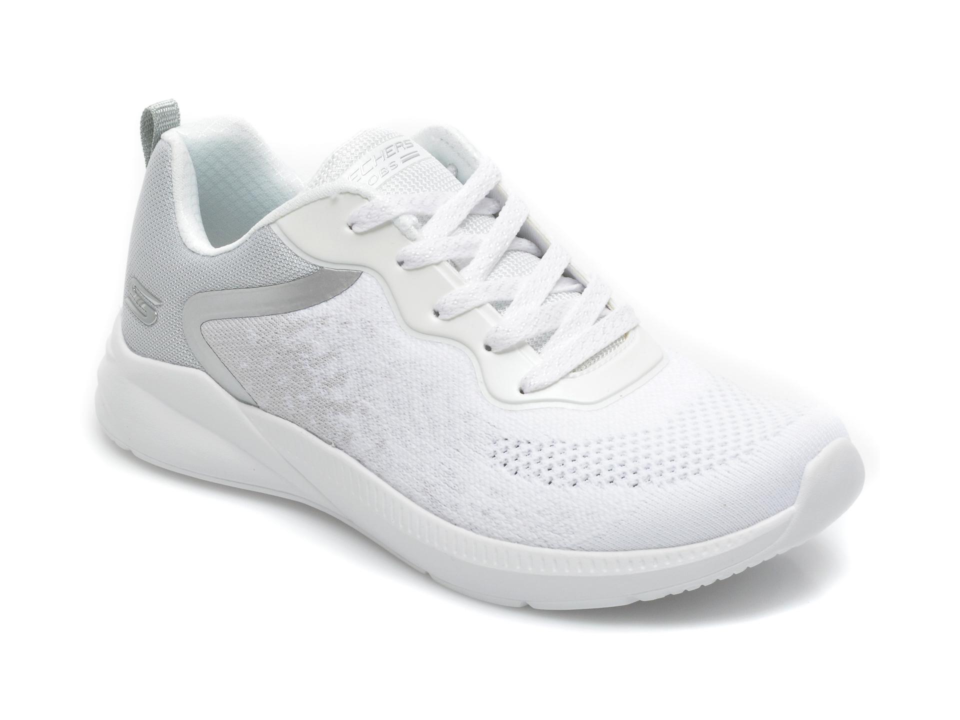 Pantofi sport SKECHERS albi, Ariana Metro Racket, din material textil imagine otter.ro