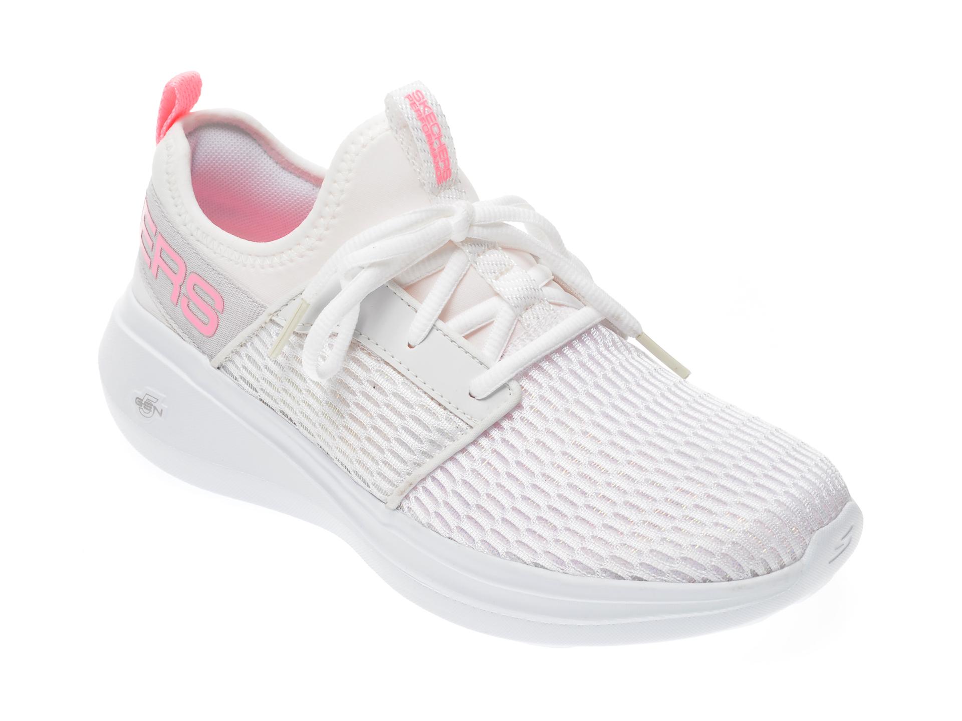 Pantofi sport SKECHERS albi, Go Run Fast, din material textil