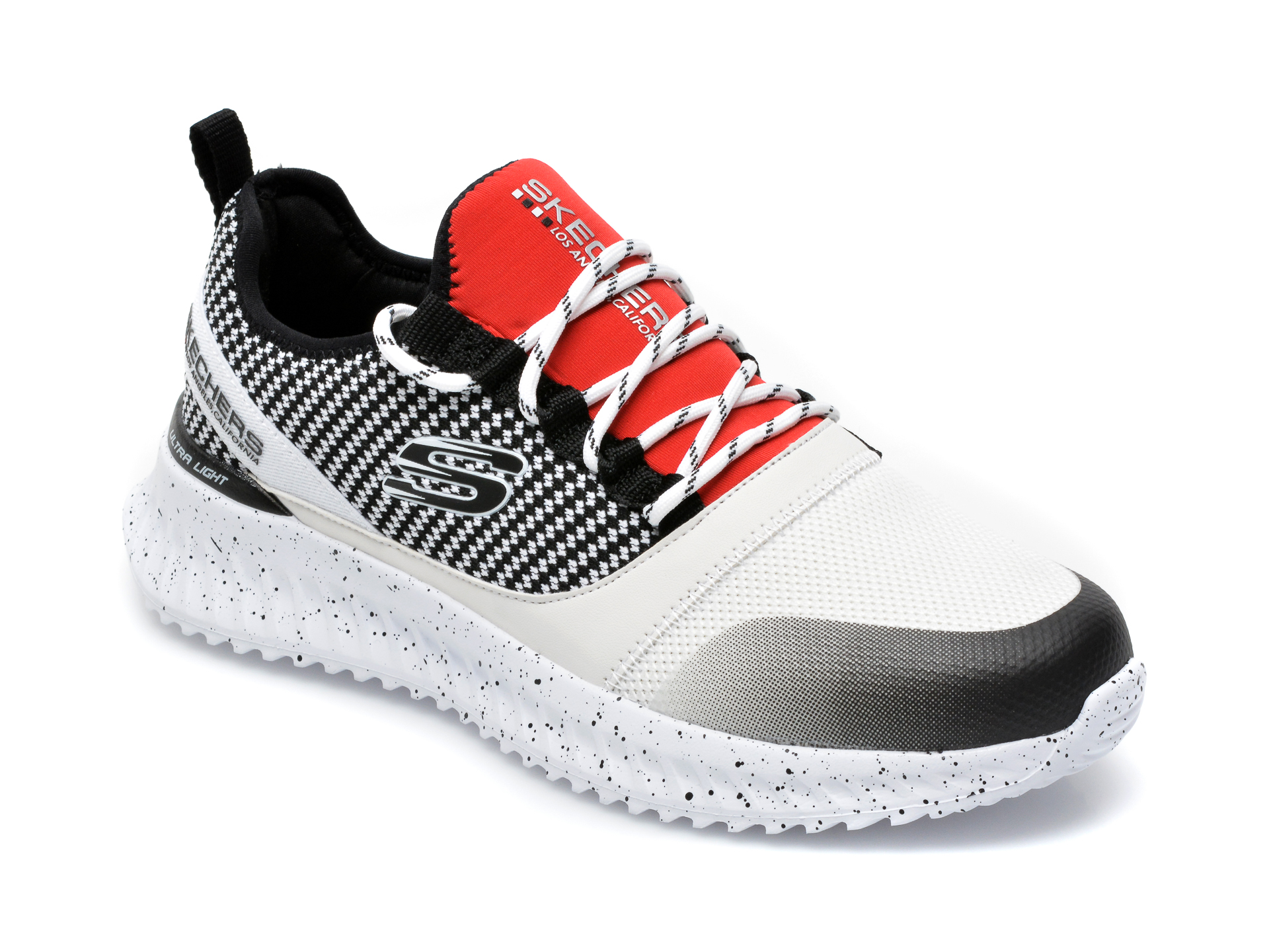 Pantofi sport SKECHERS albi, Matera 2.0 Belloq, din material textil imagine