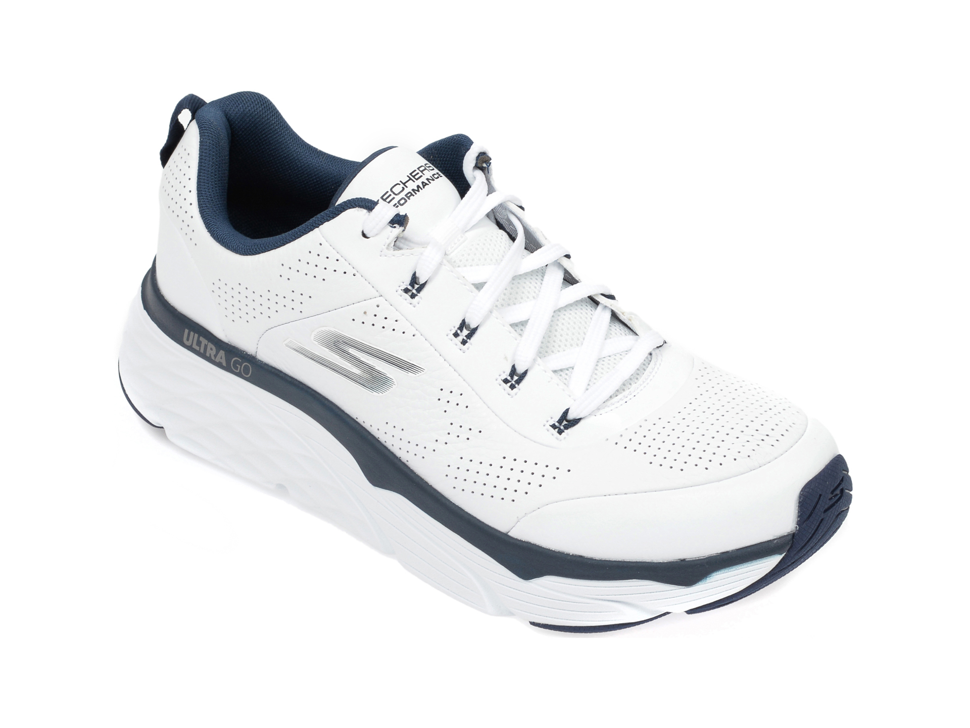 Pantofi sport SKECHERS albi, Max Cushioning Elite Lucid, din piele naturala imagine