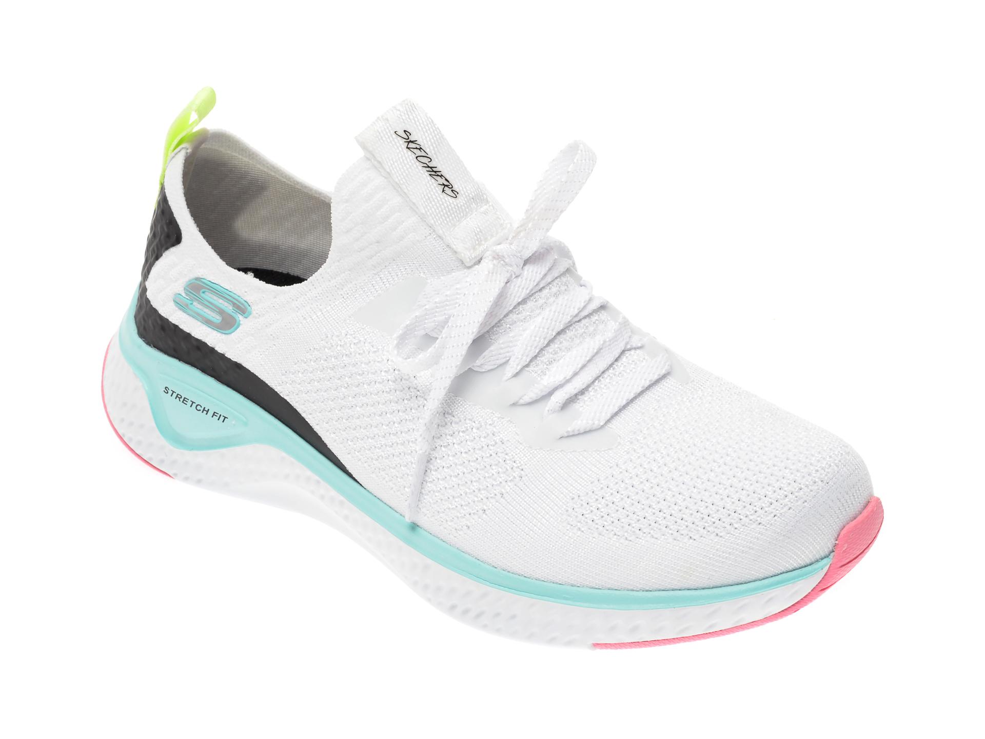 Pantofi sport SKECHERS albi, Solar Fuse, din material textil New