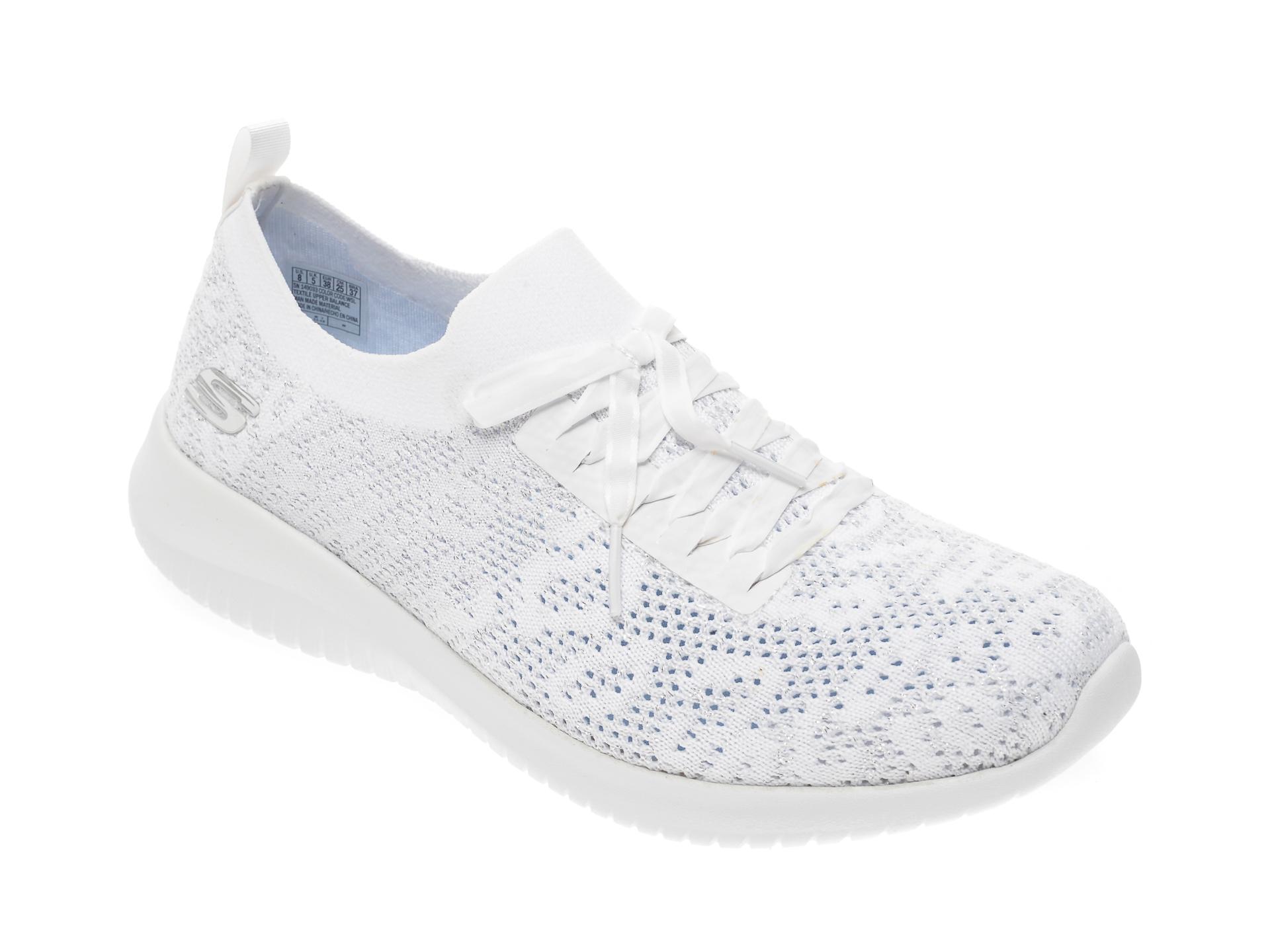 Pantofi sport SKECHERS albi, Ultra Flex, din material textil New