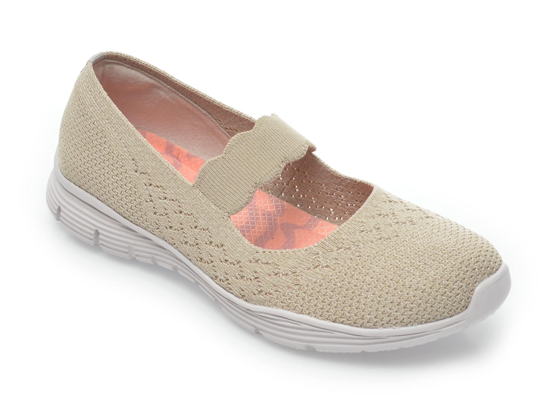 Pantofi sport SKECHERS bej, Seager Power Hitter, din material textil New
