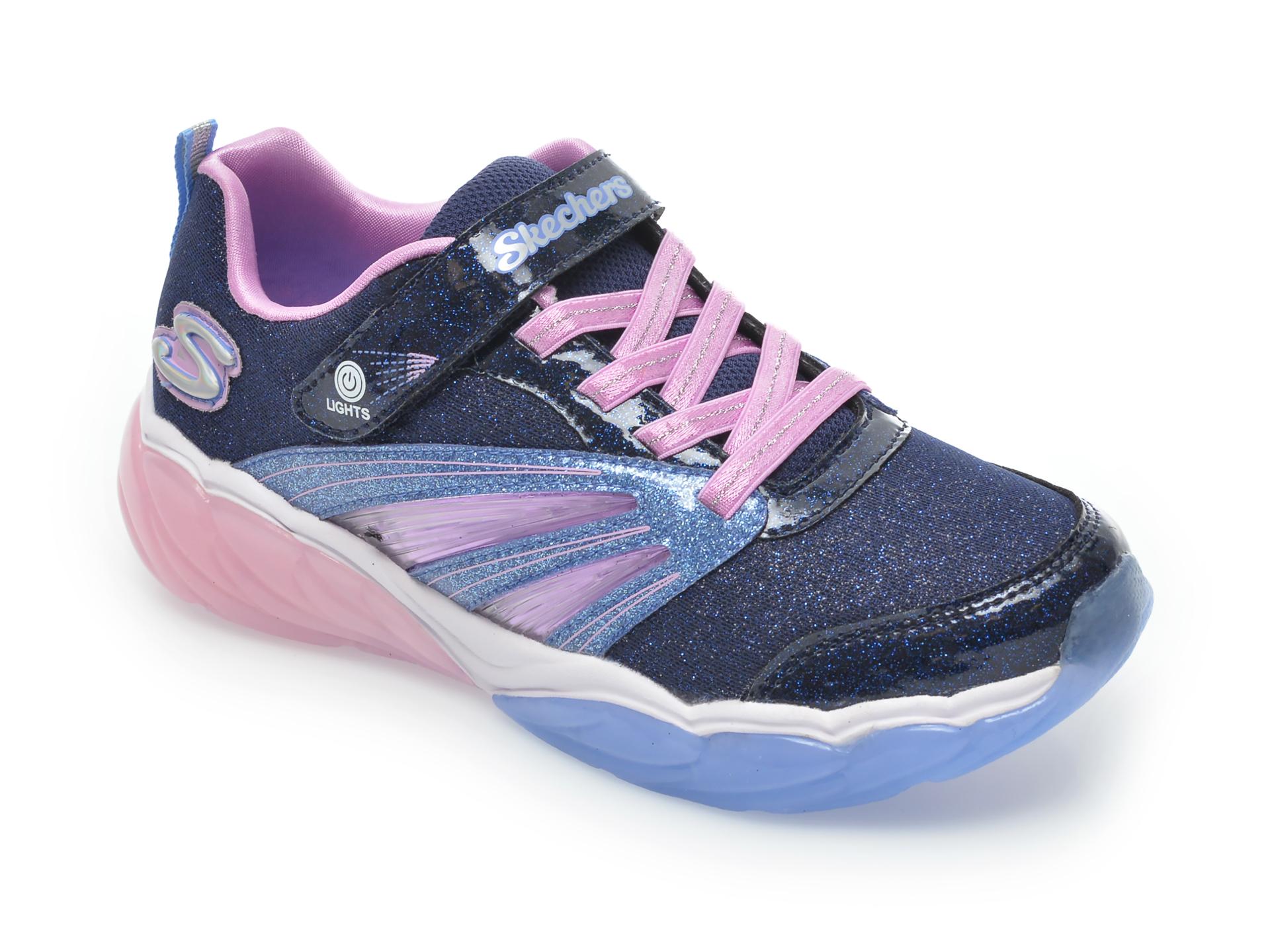 Pantofi sport SKECHERS bleumarin, 302043L, din material textil
