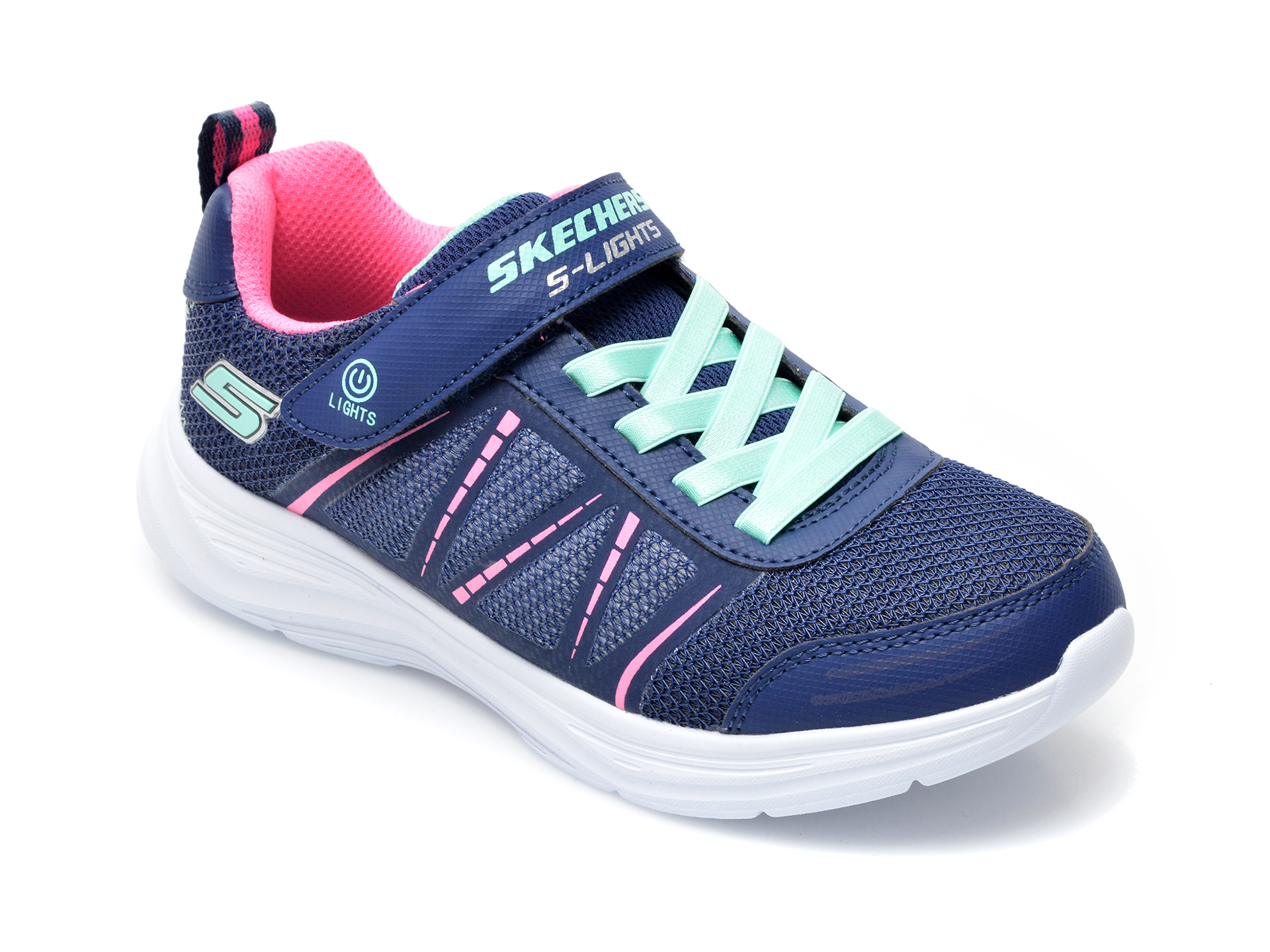 Pantofi sport SKECHERS bleumarin, 302302L, din material textil si piele ecologica imagine otter.ro