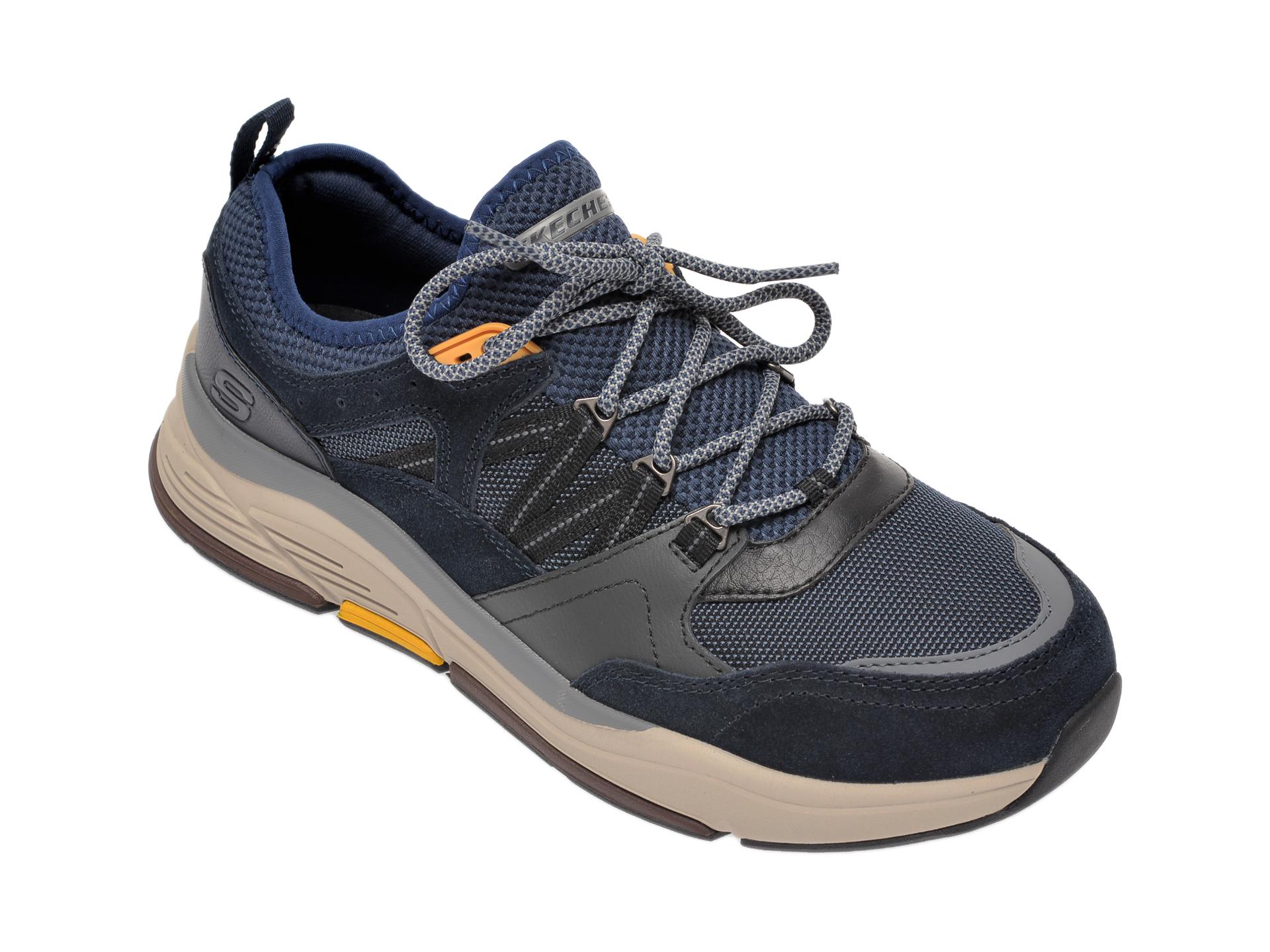 Pantofi sport SKECHERS bleumarin, Benago Flinton, din material textil imagine