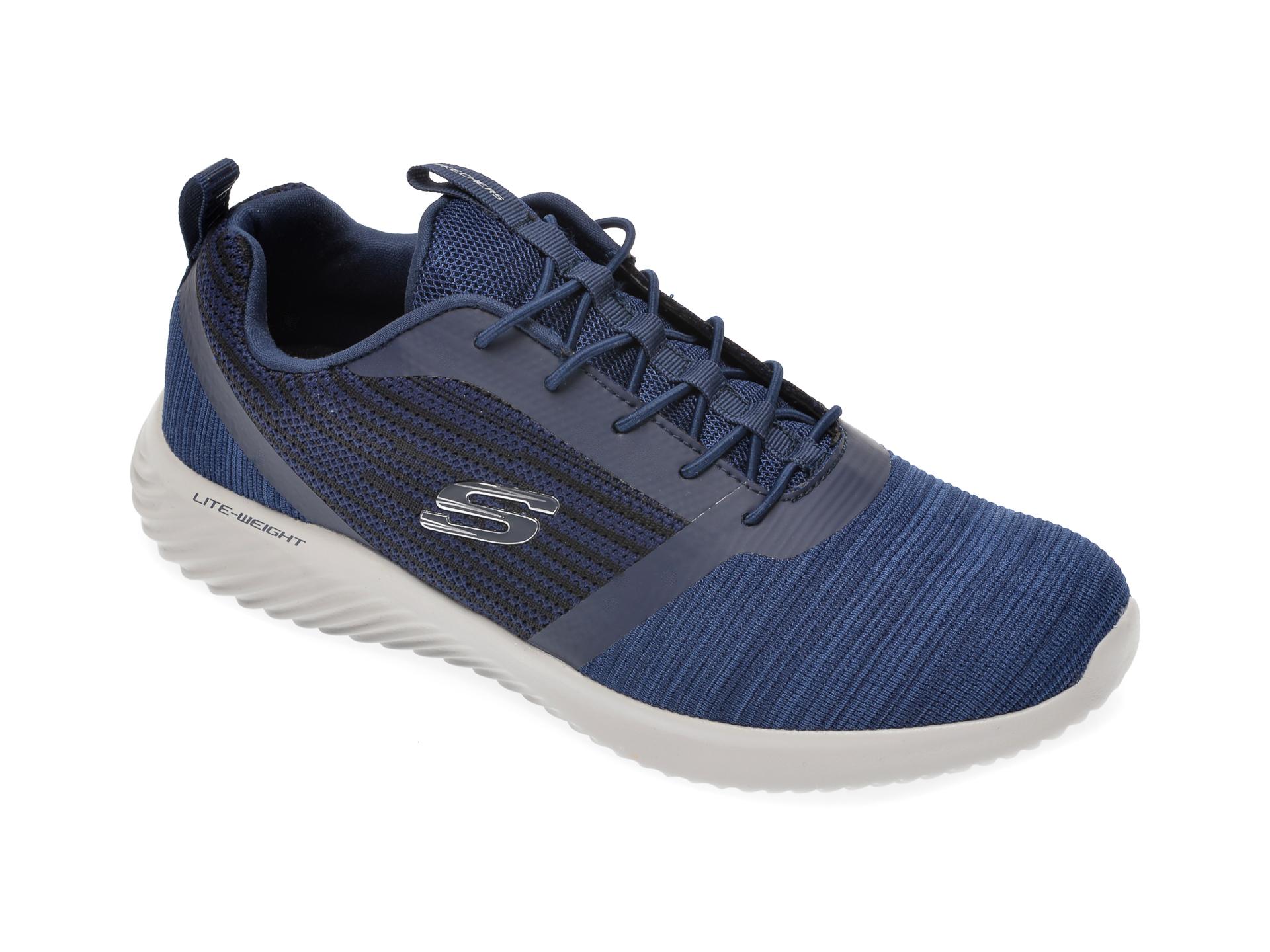 Pantofi sport SKECHERS bleumarin, Bounder, din material textil imagine