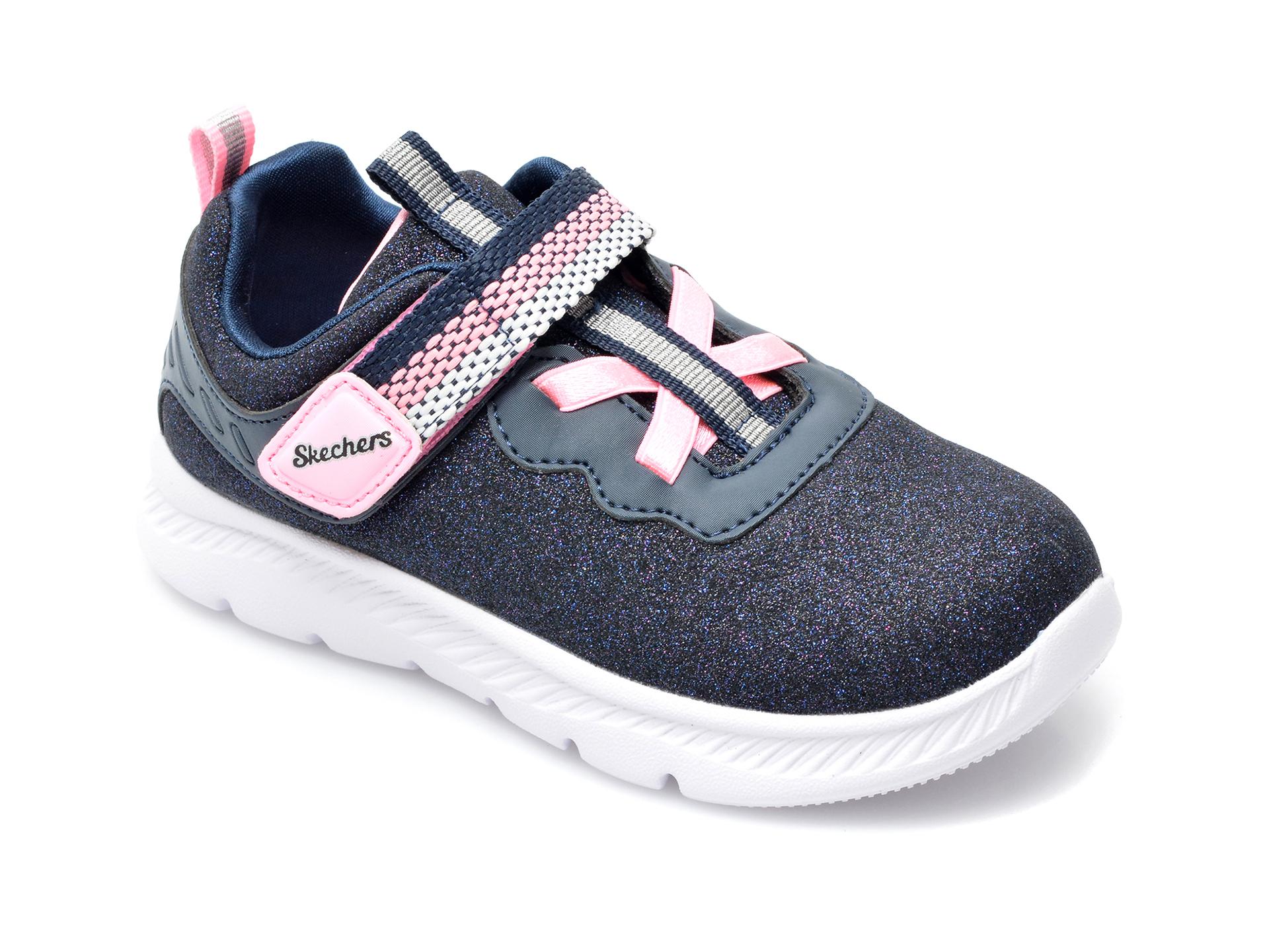 Pantofi sport SKECHERS bleumarin, Comfy Flex 2.0 Lucky Sparkles, din piele ecologica imagine otter.ro