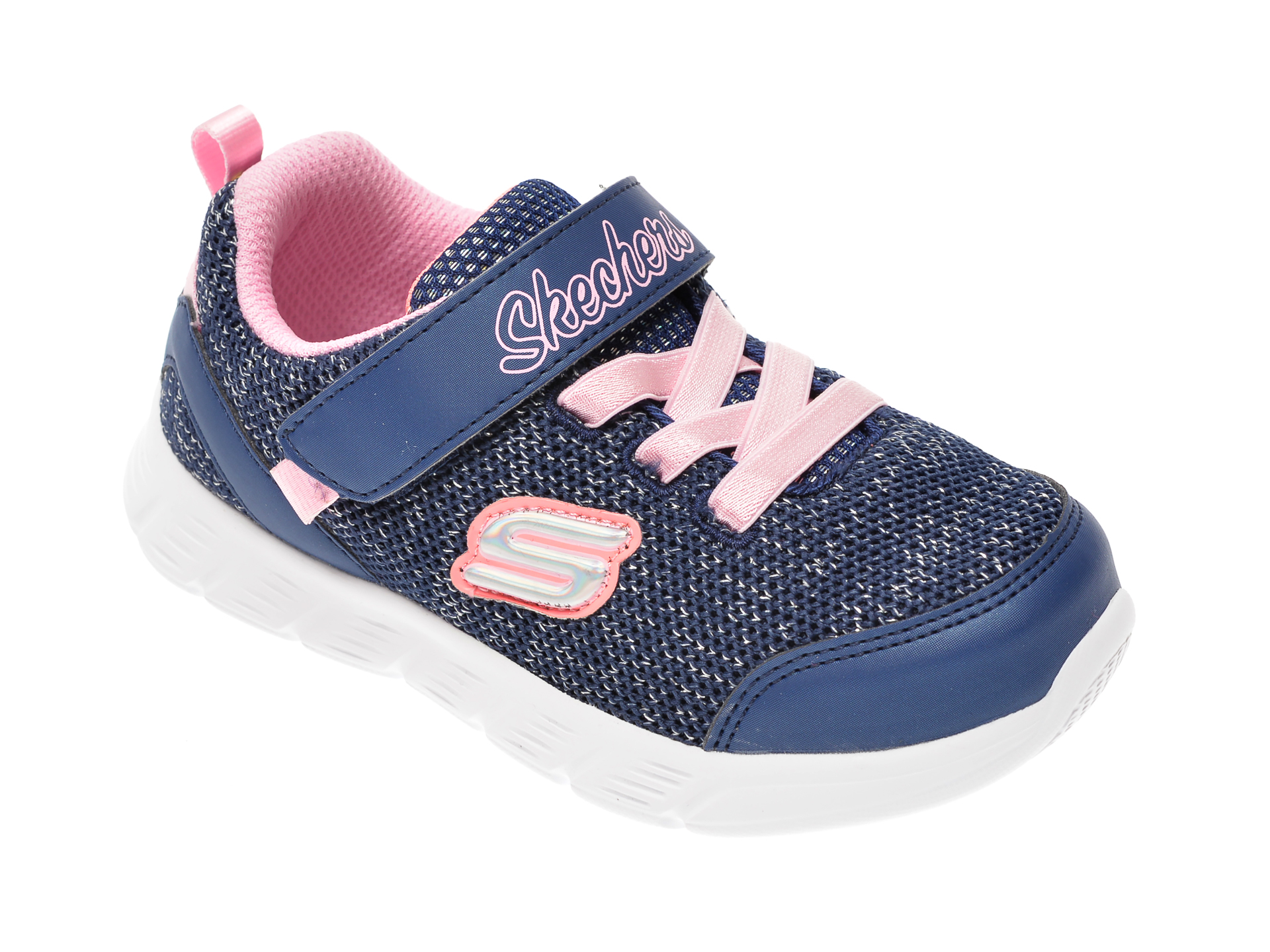 Pantofi sport SKECHERS bleumarin, Comfy Flex, din material textil New