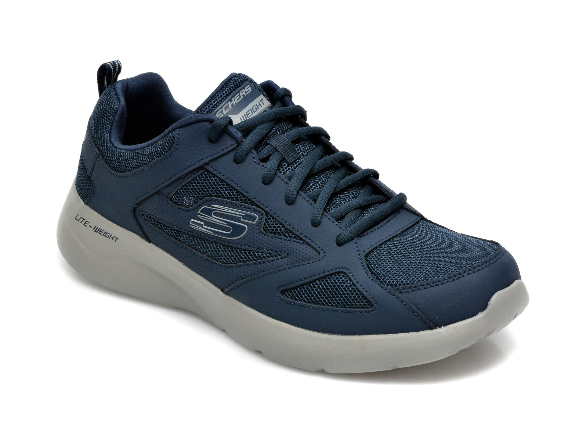 Pantofi sport SKECHERS bleumarin, Dynamight 2.0 Fallford, din material textil si piele naturala imagine