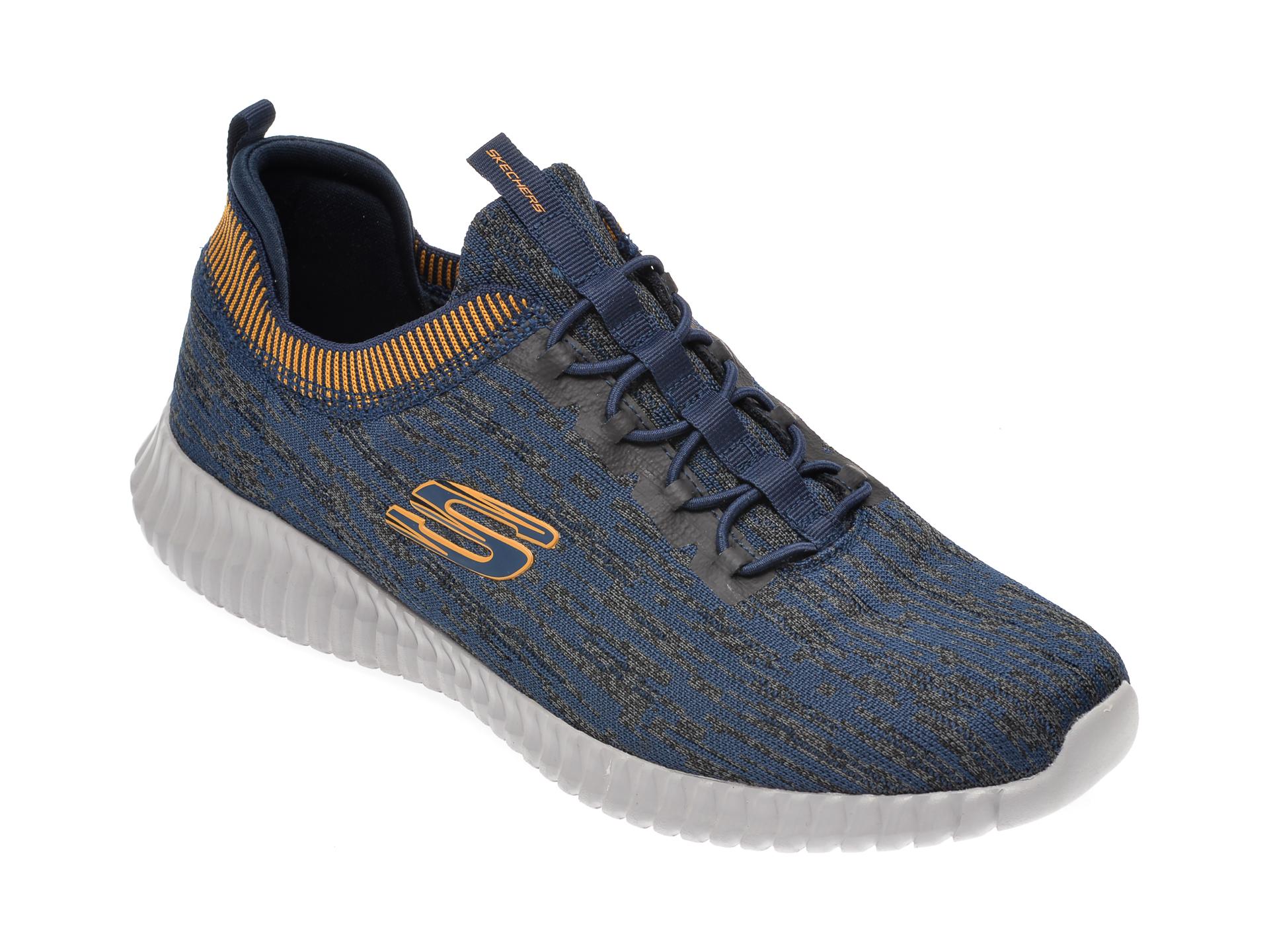 Pantofi sport SKECHERS bleumarin, Elite Flex Hartnell, din material textil imagine