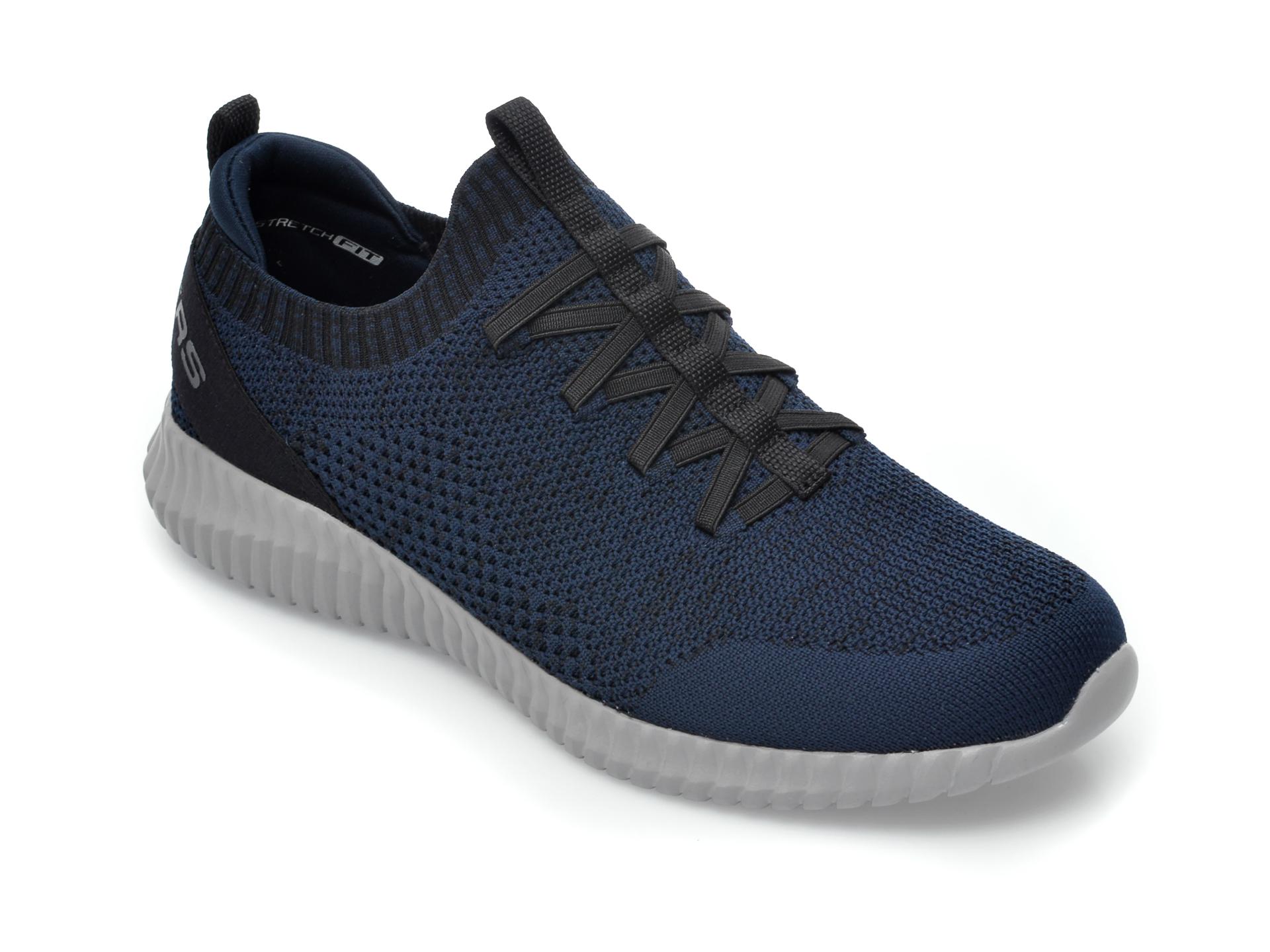 Pantofi sport SKECHERS bleumarin, Elite Flex Karnell, din material textil imagine