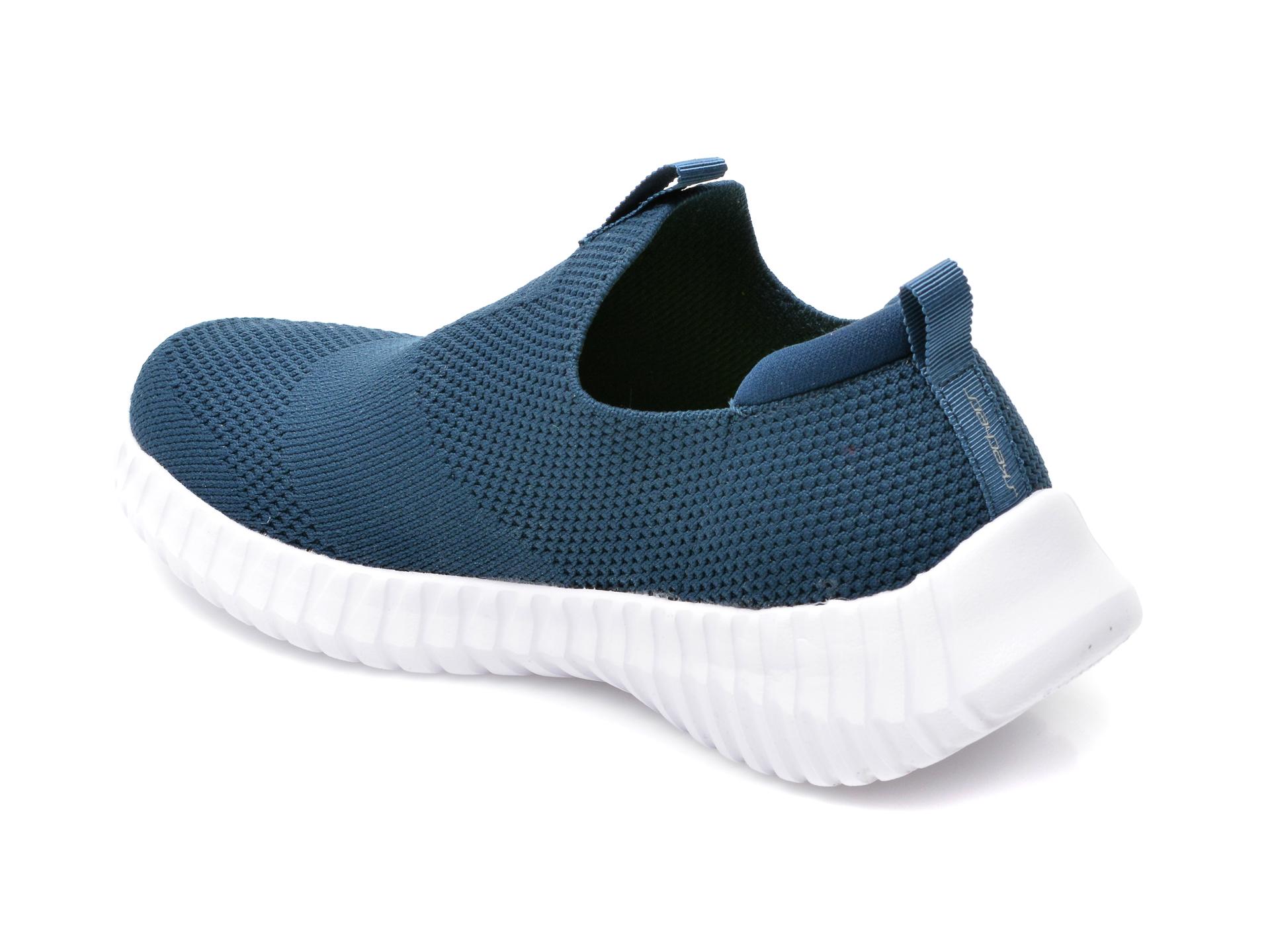Pantofi sport SKECHERS bleumarin, Elite Flex Wasik, din material textil - 5