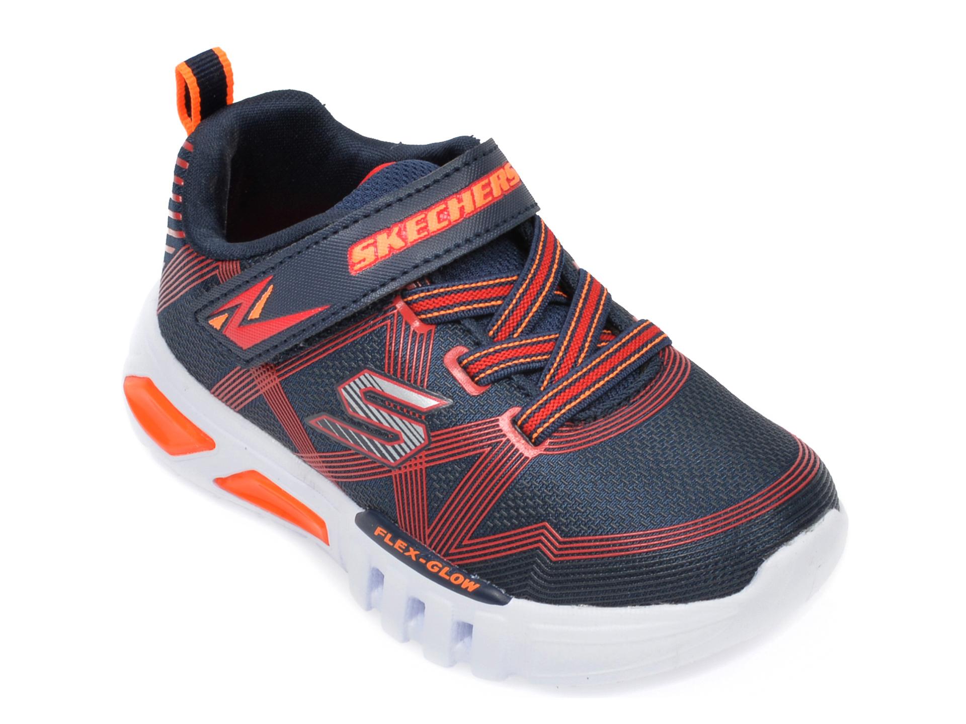 Pantofi sport SKECHERS bleumarin, Flex-Glow, din material textil New