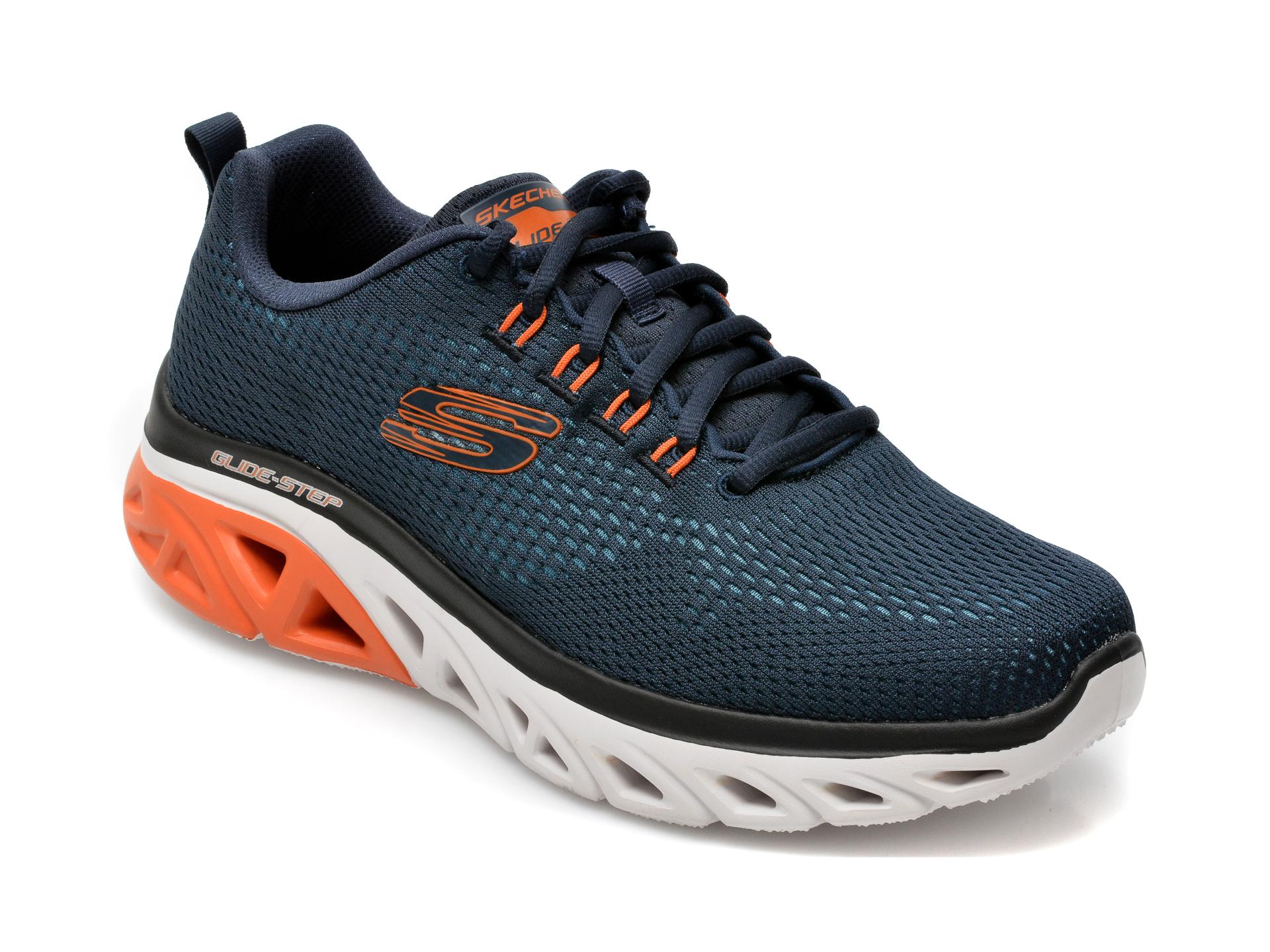Pantofi sport SKECHERS bleumarin, Glide, din material textil imagine otter.ro 2021