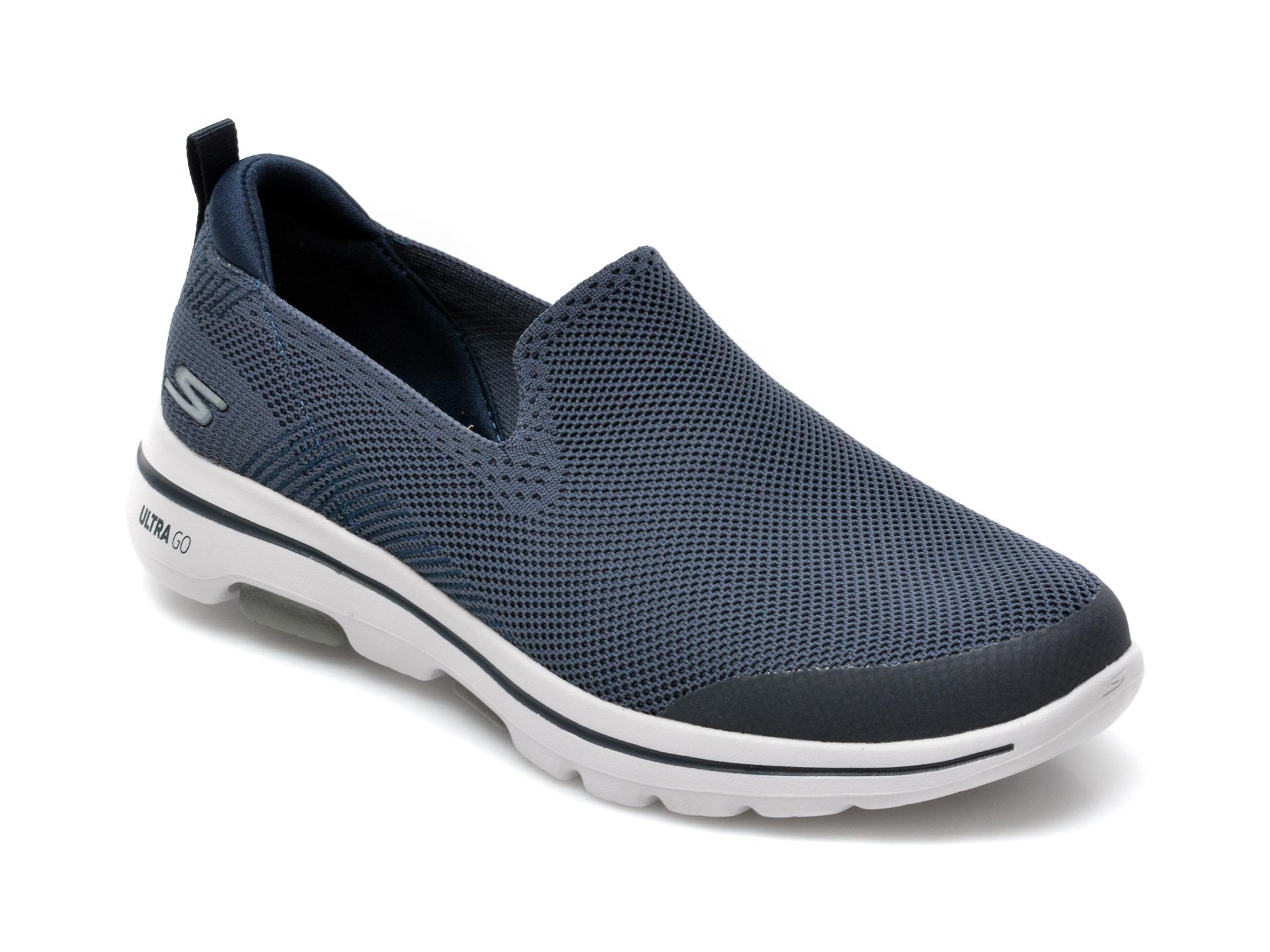 Pantofi sport SKECHERS bleumarin, Go Walk, din material textil imagine
