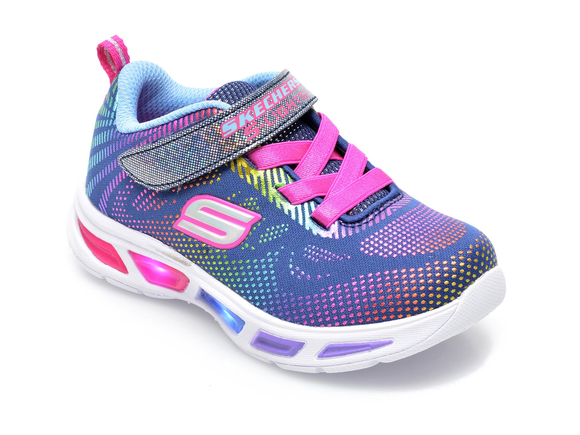 Pantofi sport SKECHERS bleumarin, Litebeams, din material textil imagine otter.ro