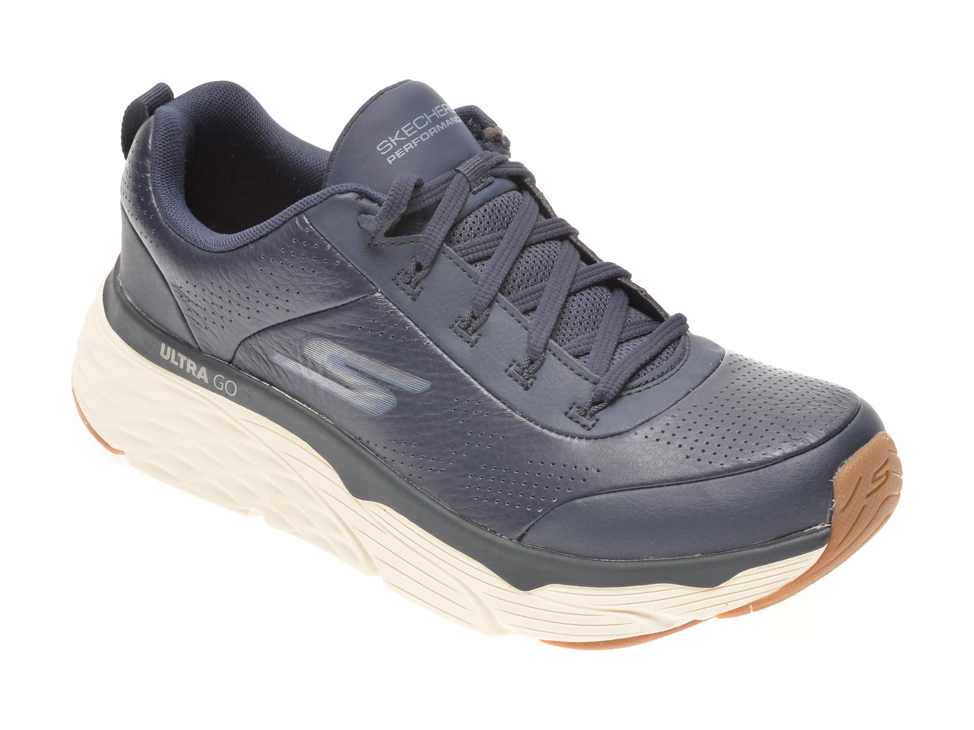 Pantofi sport SKECHERS bleumarin, MAX CUSHIONING ELITE LUCID, din piele naturala imagine